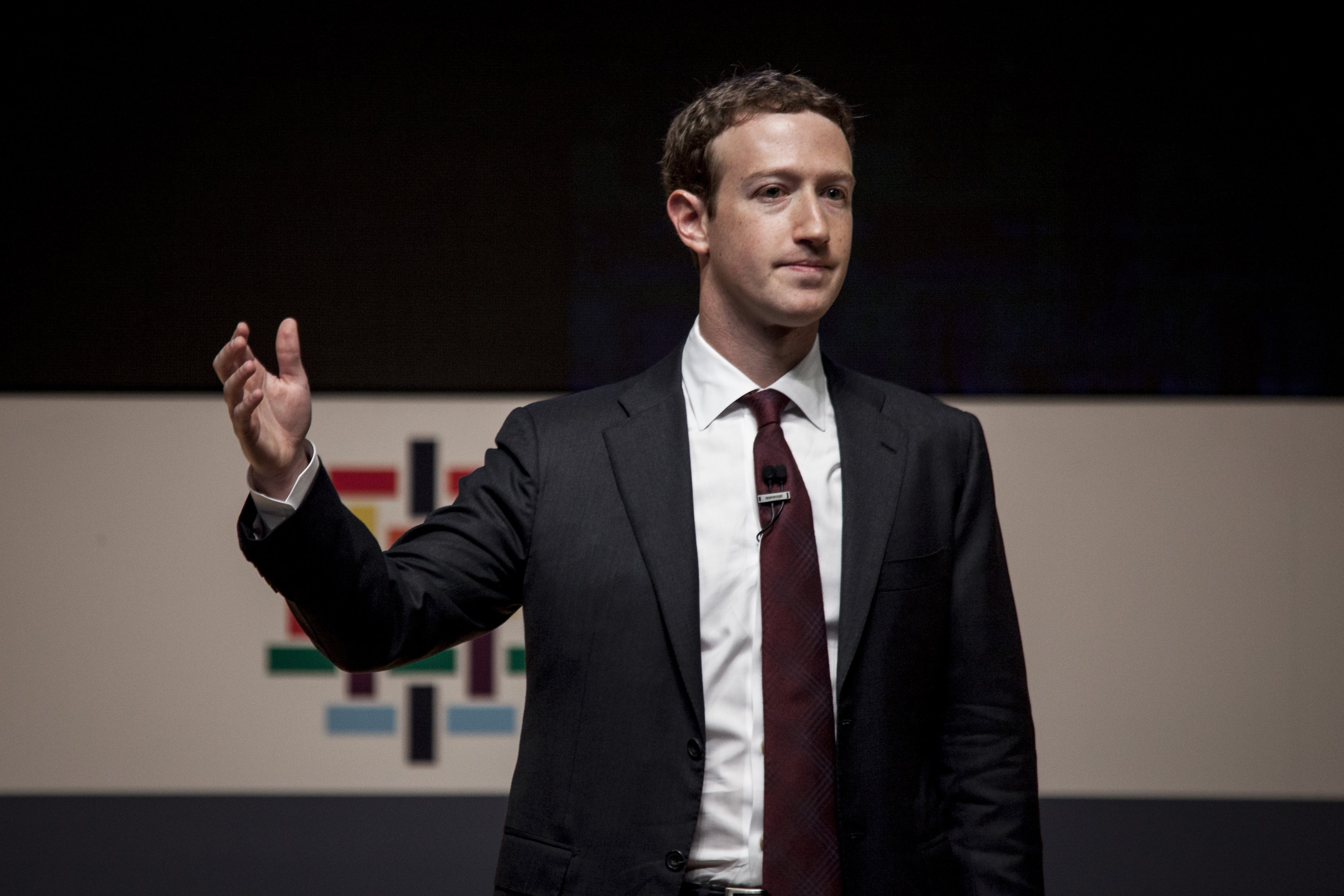 Mark Zuckerberg, founder and chief executive officer of Facebook Inc., speaks during the Asia-Pacific Economic Cooperation (APEC) 2016 CEO Summit in Lima, Peru, on Saturday, Nov. 19, 2016.
