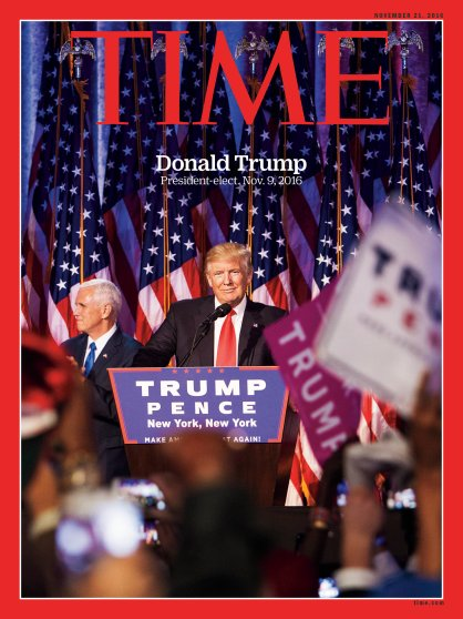 Donald Trump President-elect Election Time Magazine Cover