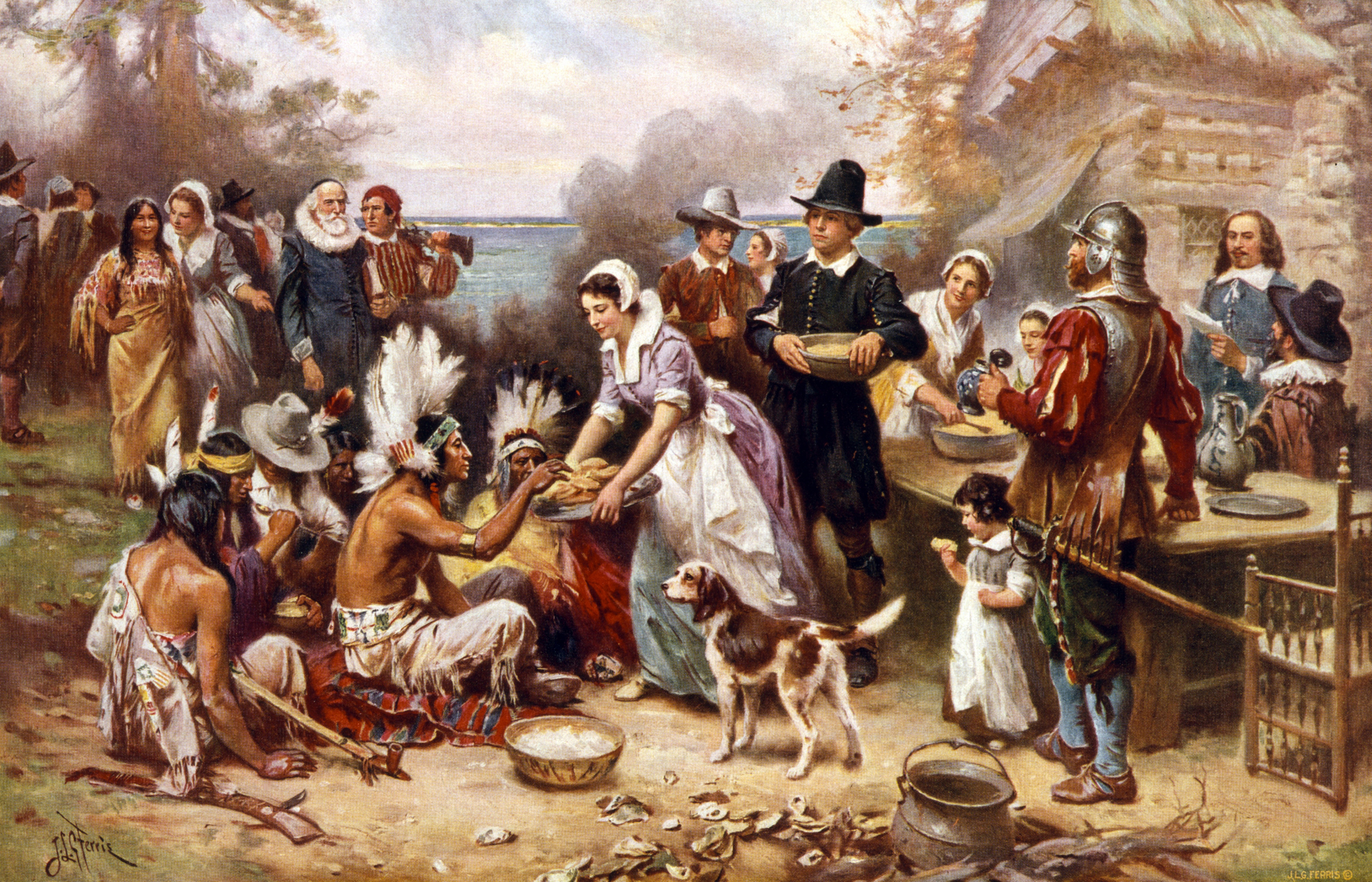 Thanksgiving Day What Happened At The First Thanksgiving Time