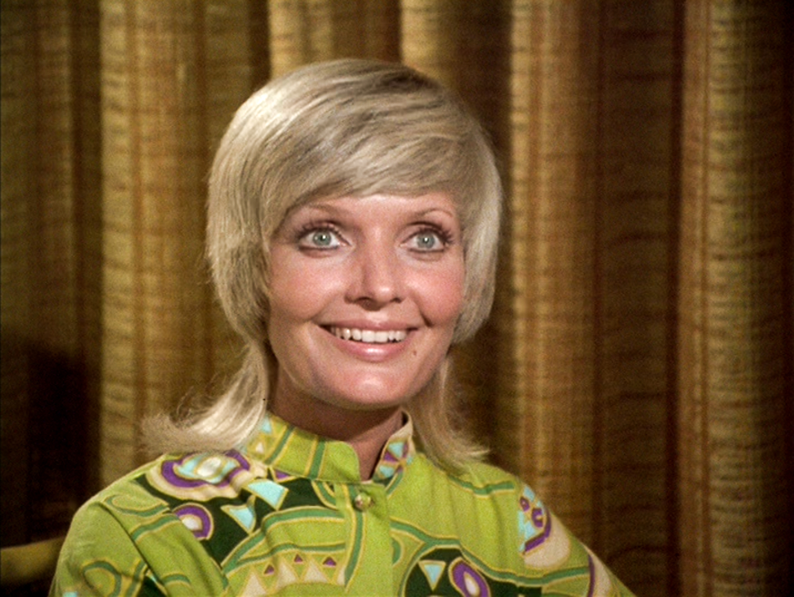 Florence Henderson as Carol Brady in The Brady Bunch episode,  Pass The Tabu  on Sept. 29, 1972.
