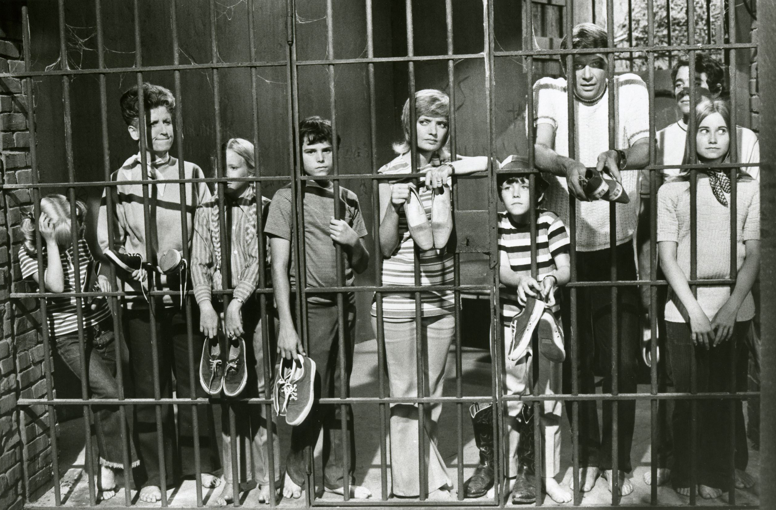 In the first of a three-part story filmed on location at the Grand Canyon the Brady Bunch were locked in a ghost town jail by a prospector who suspected that they were there to steal his gold, on Sept. 17, 1971.