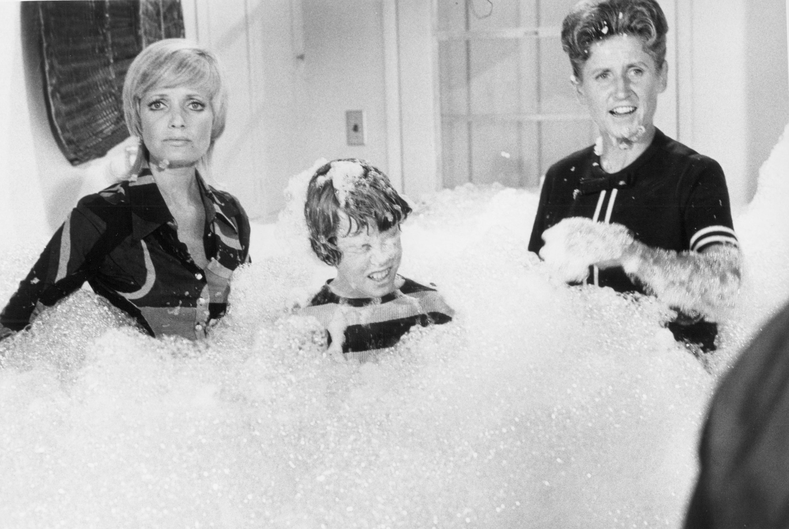 Florence Henderson, Mike Lookinland, and Ann B. Davis in the episode,  Law and Disorder,  on Jan. 12, 1973.