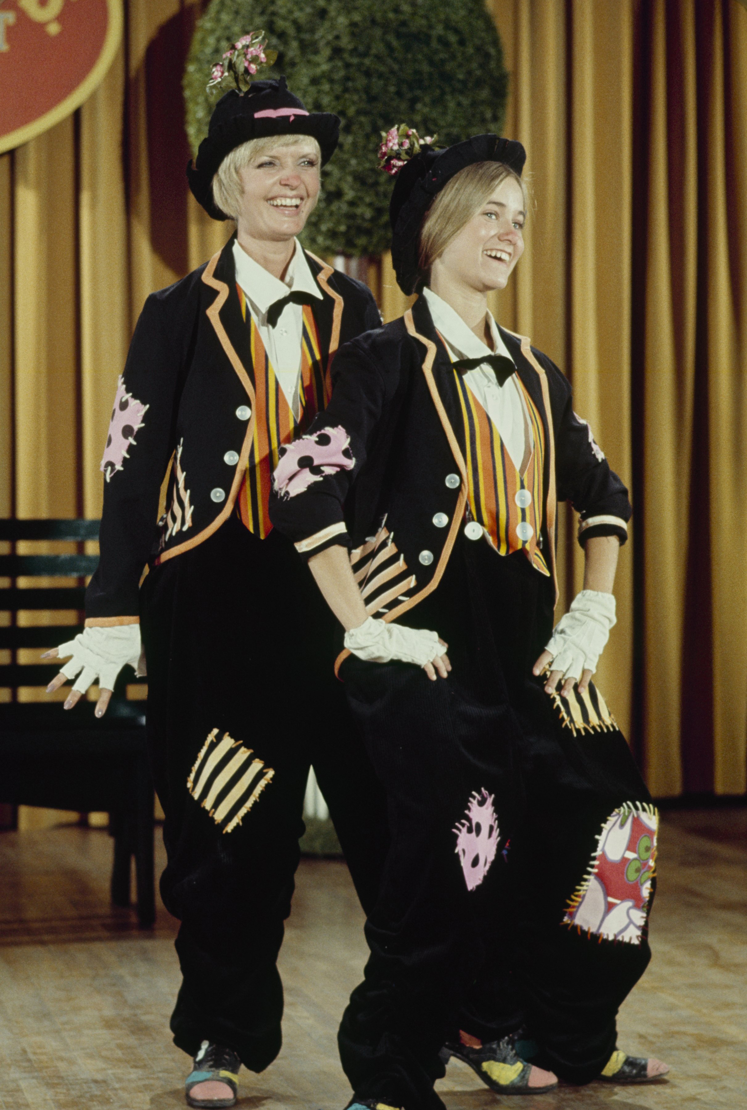 Florence Henderson dances with co-star Maureen Mccormich during The Brady Bunch episode  The Show Must Go On,  on Nov. 3, 1972.