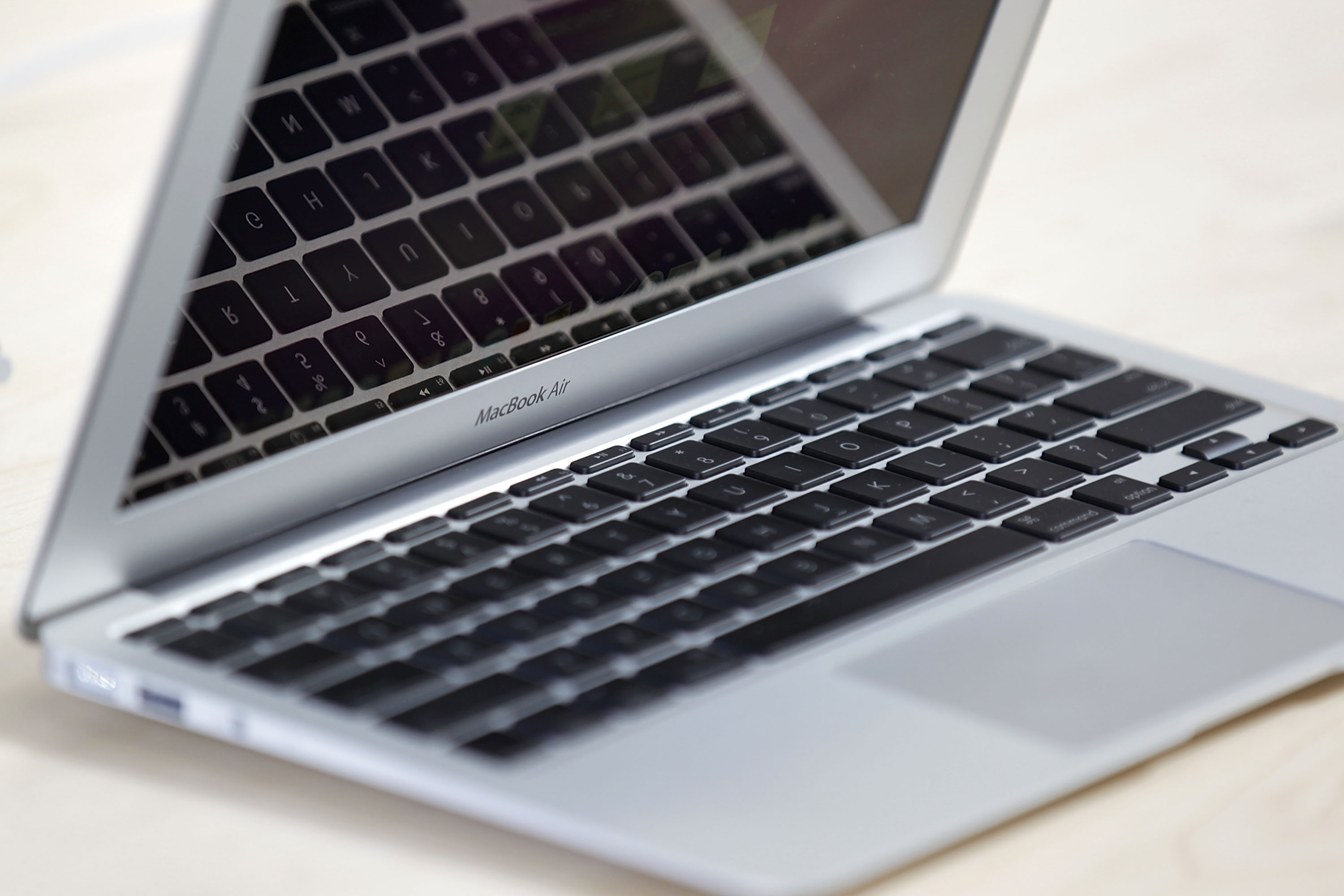 The new 11-inch MacBook Air is displayed at the new Apple Store during a media preview on October 21, 2010 in Chicago, Illinois.