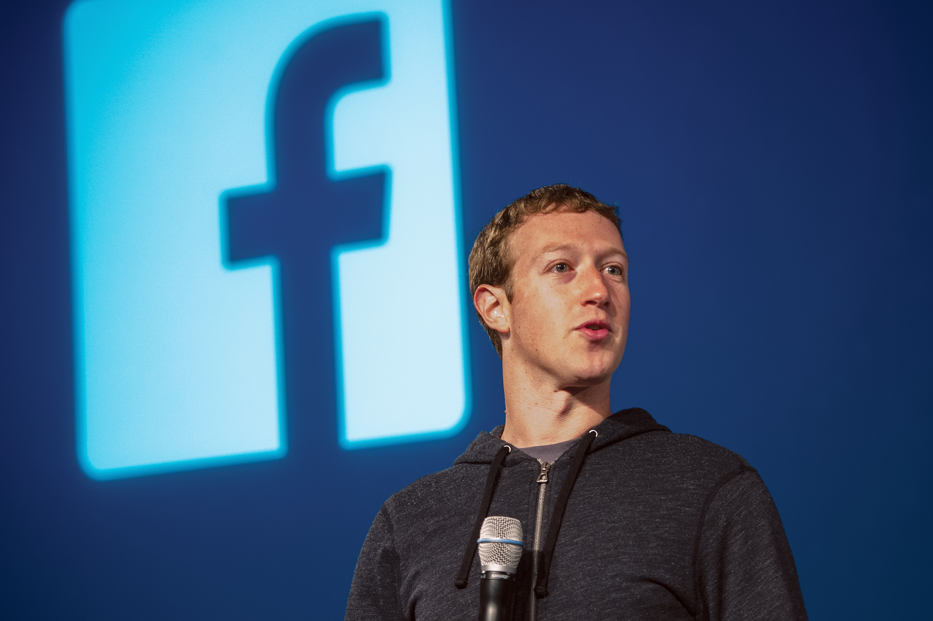 Mark Zuckerberg, chief executive officer and founder of Facebook Inc., speaks during an event at the company's headquarters in Menlo Park, California, on March 7, 2013.