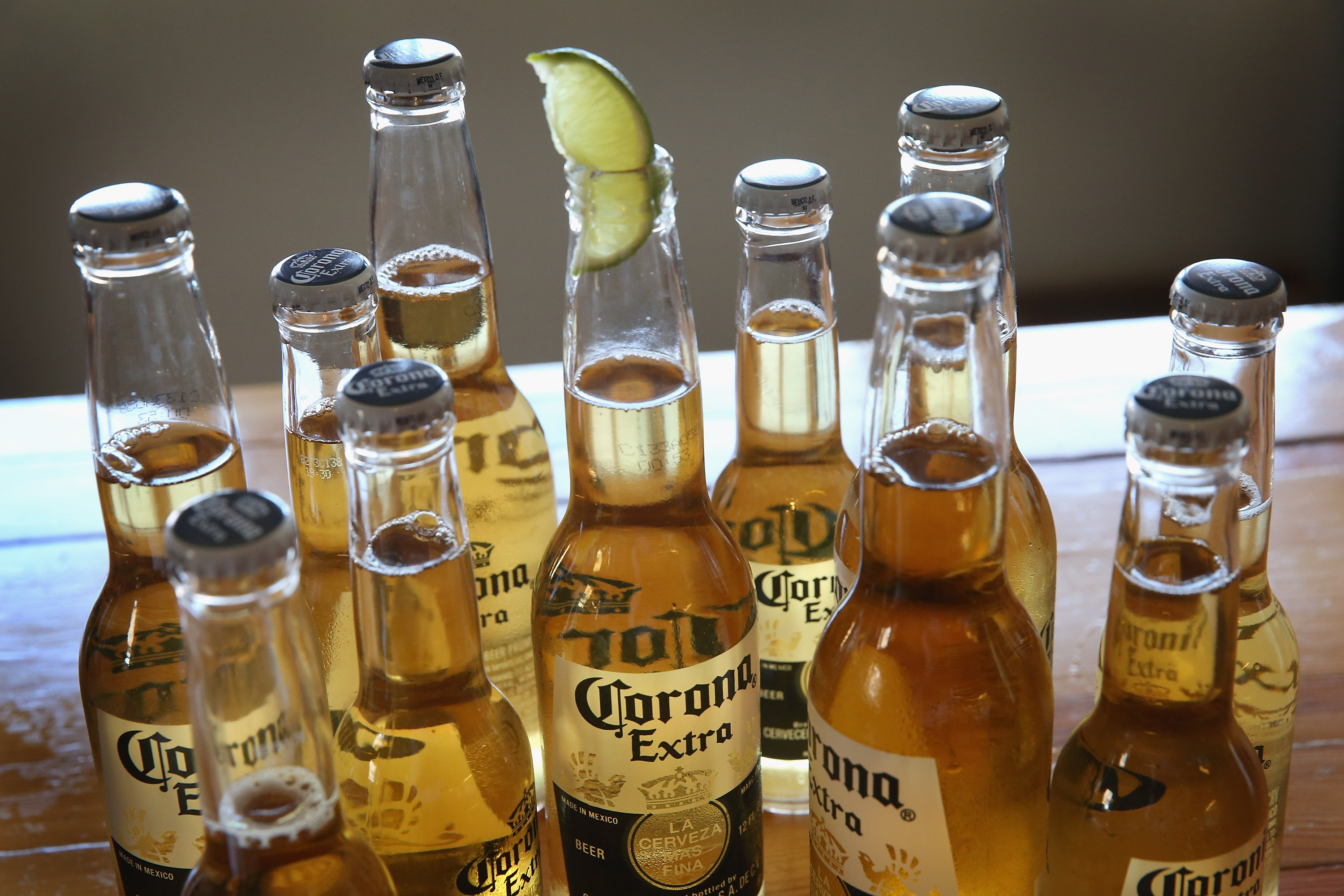 Bottles of Corona beer are shown on June 7, 2013, in Chicago