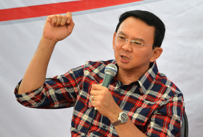 Basuki Tjahaja Purnama, Jakarta's first non-Muslim leader in half a century, during his gubernatorial campaign in Jakarta on Nov. 16, 2016