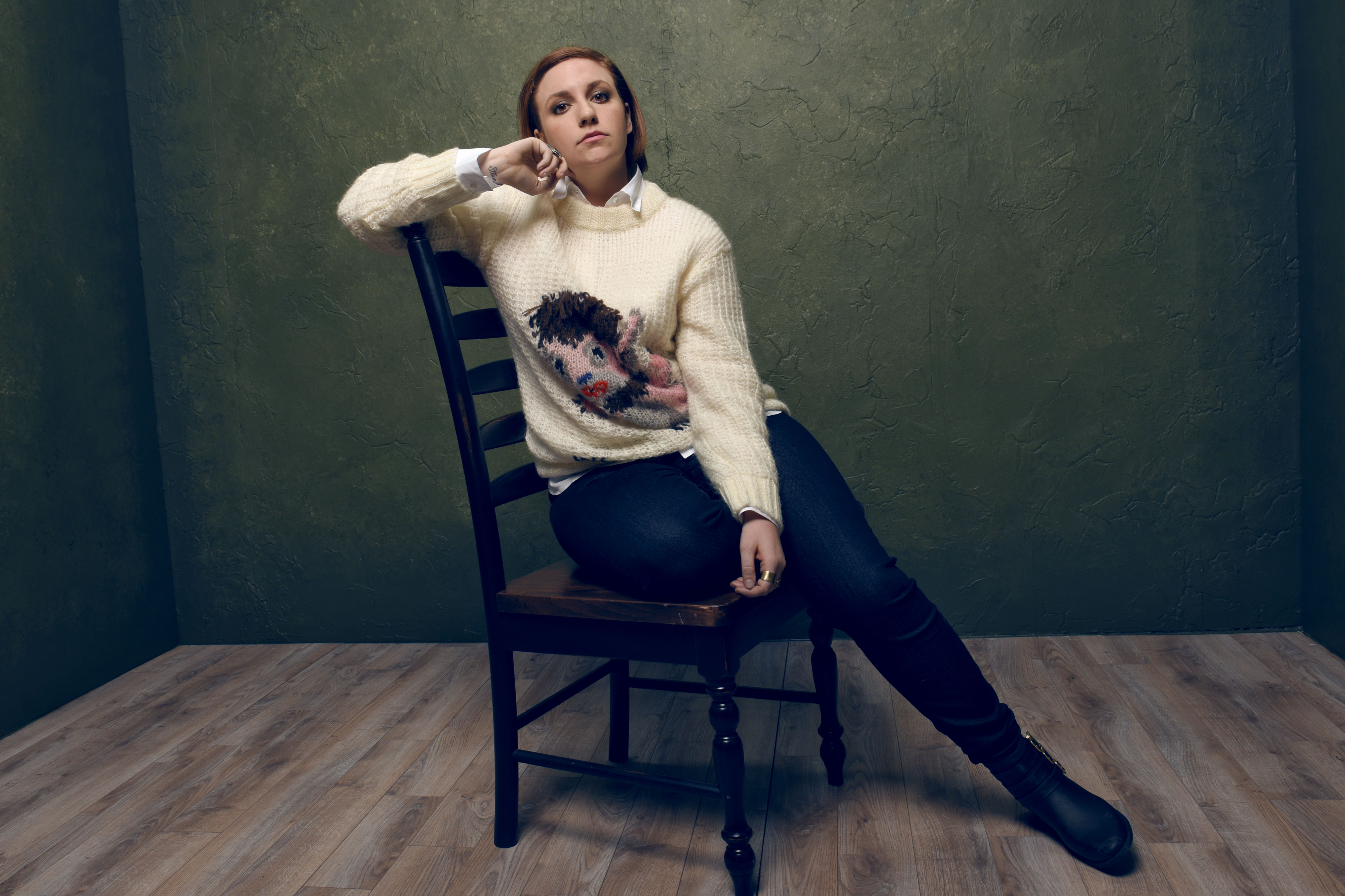 Lena Dunham during the 2015 Sundance Film Festival.  The actress recently penned an essay on her thoughts on the 2016 U.S. presidential election.