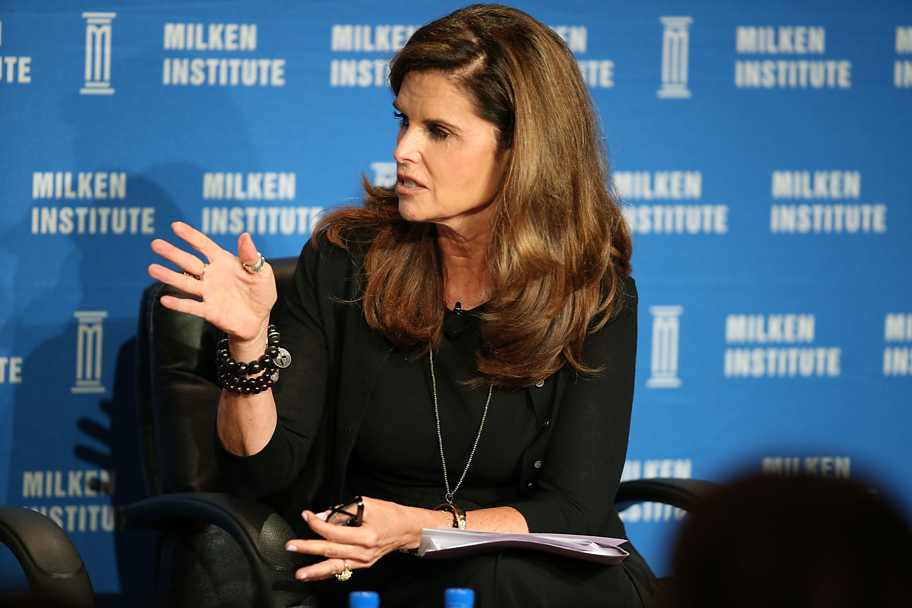Maria Shriver speaks onstage at the 2016 Milken Institute Global Conference on May 04, 2016 in Beverly Hills, California.