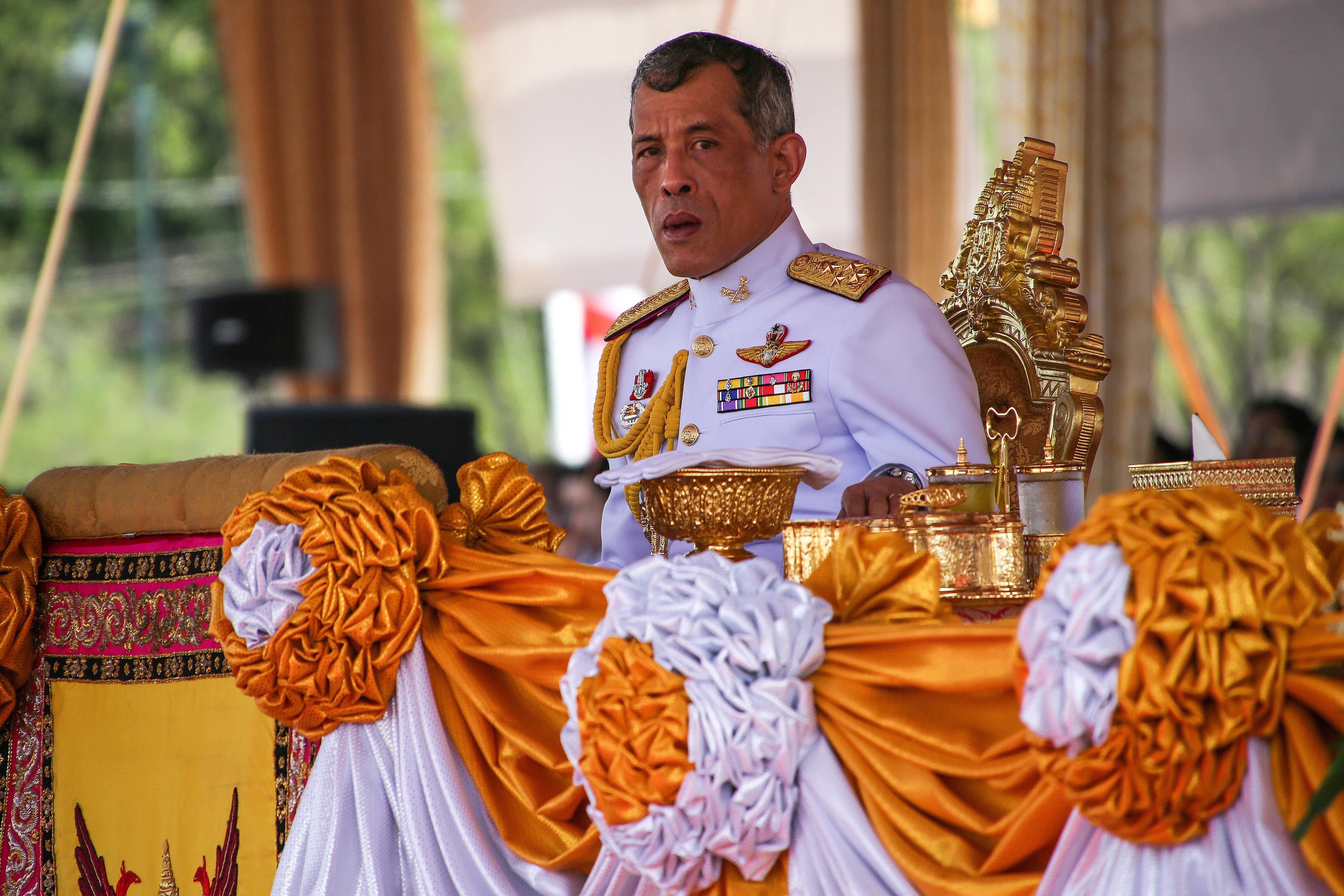 Crown Prince Maha Vajiralongkorn of Thailand attends a ceremony in Bangkok on May 9, 2016