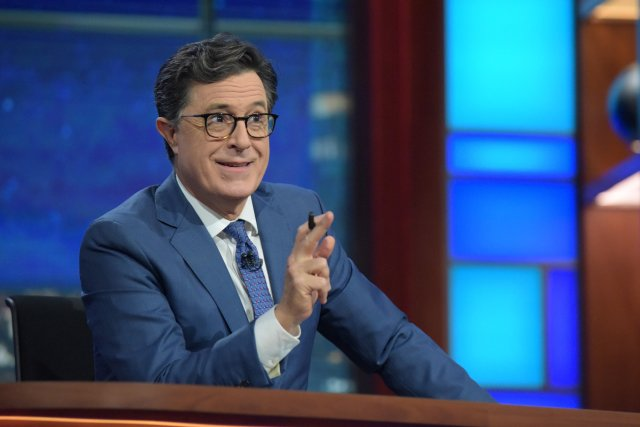 NEW YORK - OCTOBER 19: The Late Show with Stephen Colbert during Wednesday 's 10/19/16 taping in New York. (Photo by Scott Kowalchyk/CBS via Getty Images)