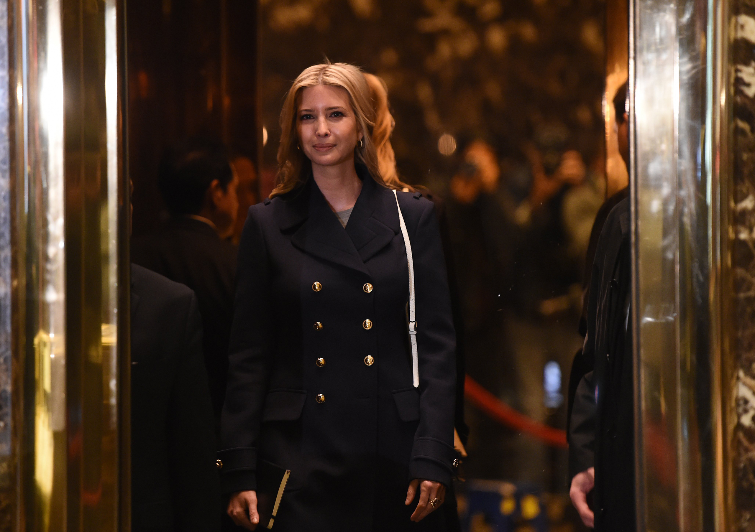 Ivanka Trump, daughter and part of the executive committee of US President-elect Donald Trump's transition team arrives at Trump Tower on another day of meetings on Nov. 21, 2016.