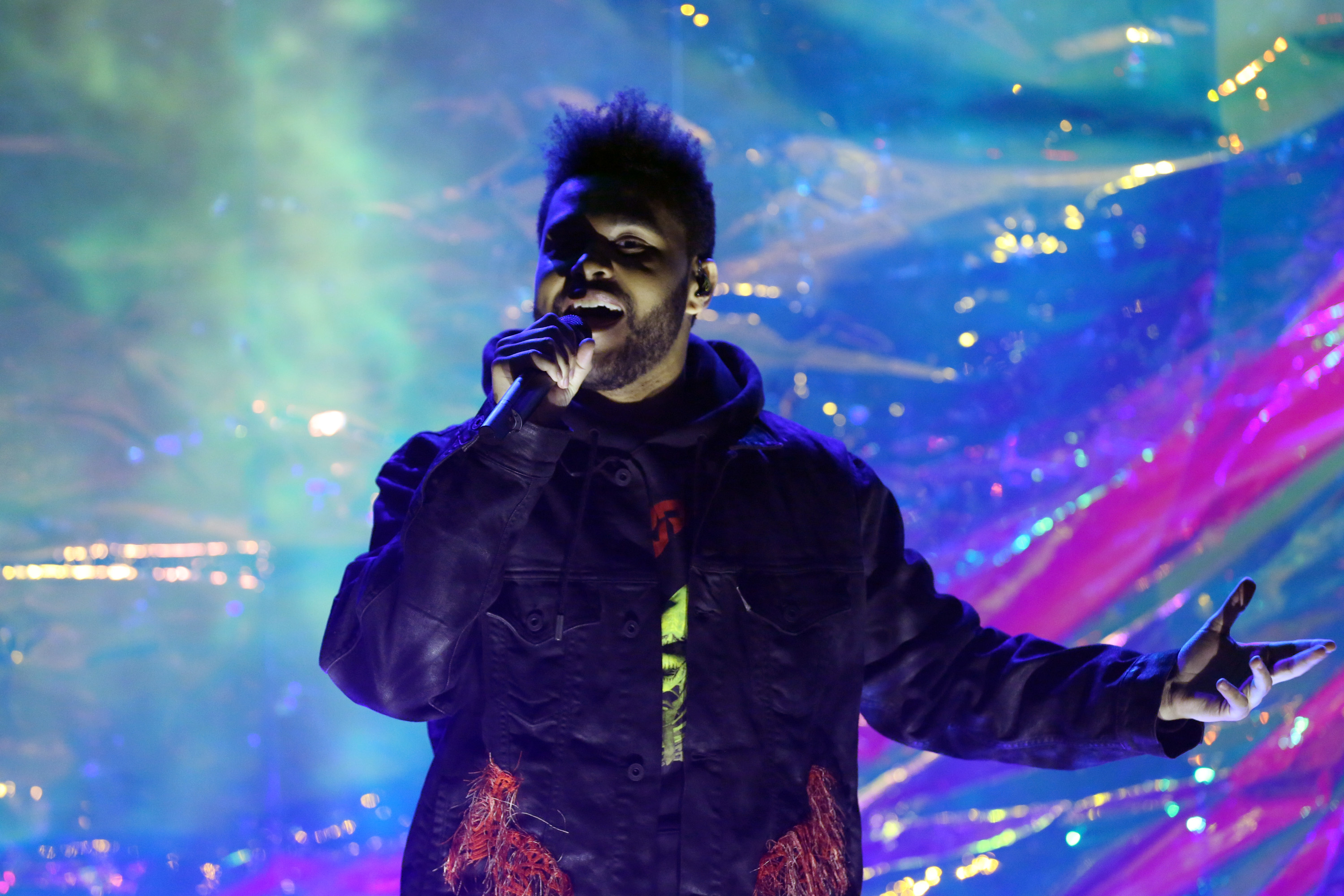 The Weeknd performs on November 24, 2016.