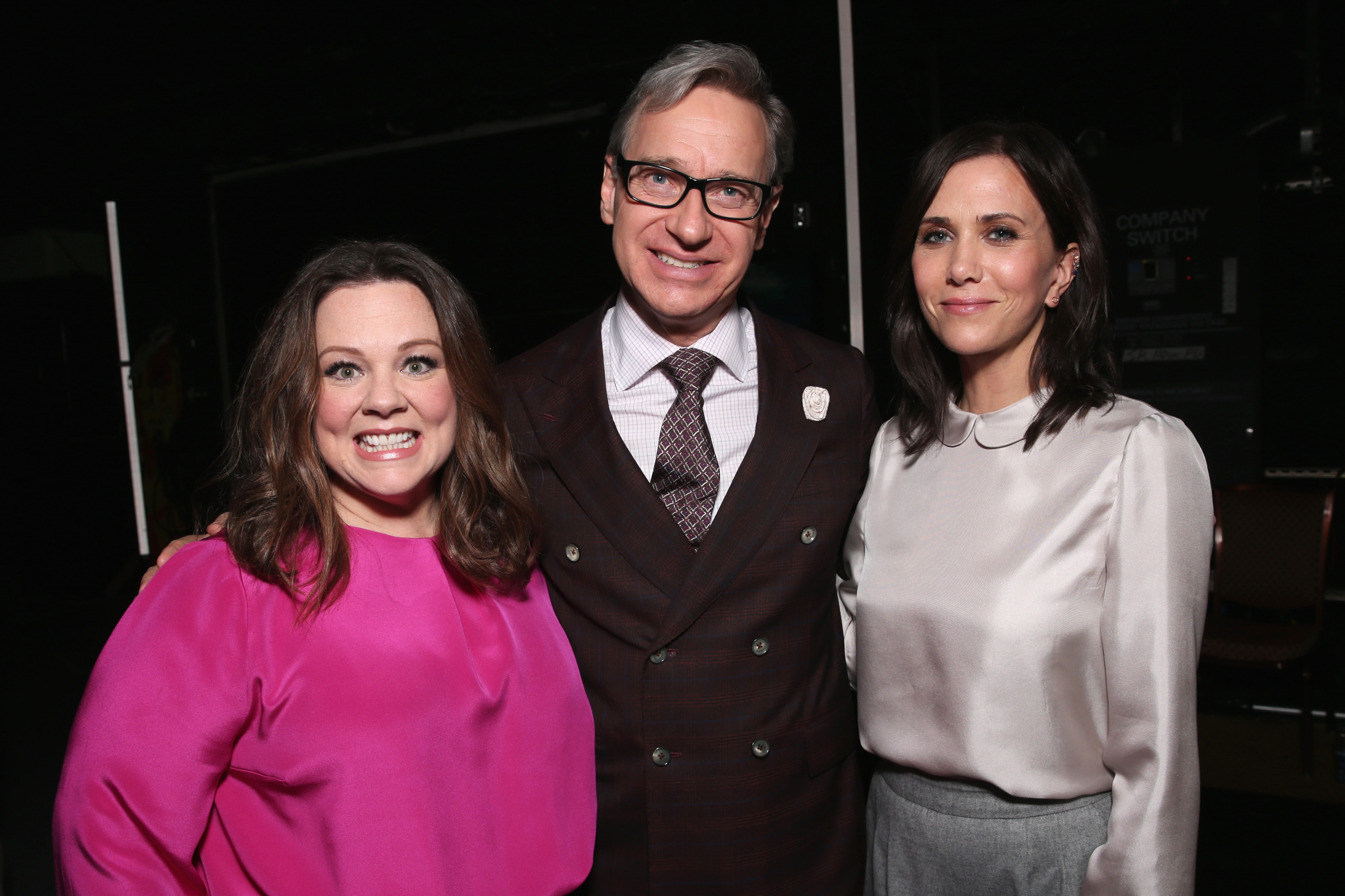Actress Melissa McCarthy, director Paul Feig and actress Kristen Wiig attend CinemaCon 2016 An Evening with Sony Pictures Entertainment: Celebrating the Summer of 2016 and Beyond at The Colosseum at Caesars Palace during CinemaCon, the official convention of the National Association of Theatre Owners, on April 12, 2016 in Las Vegas, Nevada.