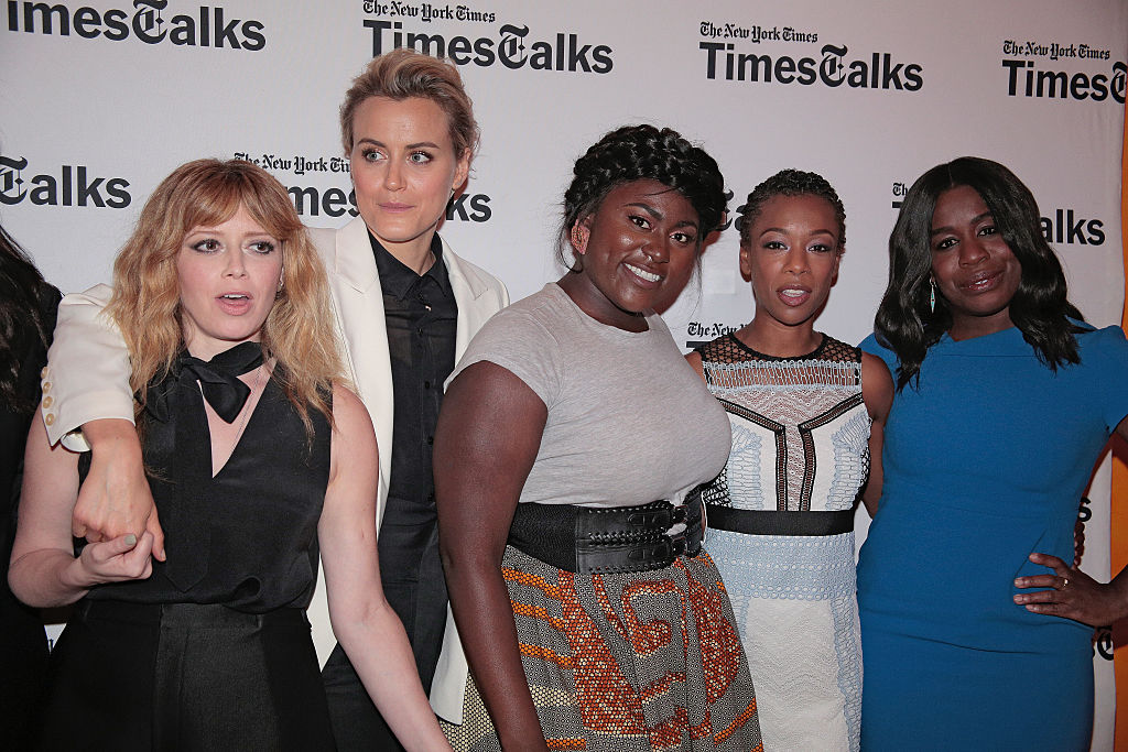(L-R)  Natasha Lyonne, Taylor Schilling, Danielle Brooks, Samira Wiley and Uzo Aduba attend TimesTalks presents: 'Orange Is the New Black' attend the TimesTalks presents: 'Orange Is the New Black' at The Times Center on June 24, 2016 in New York City.