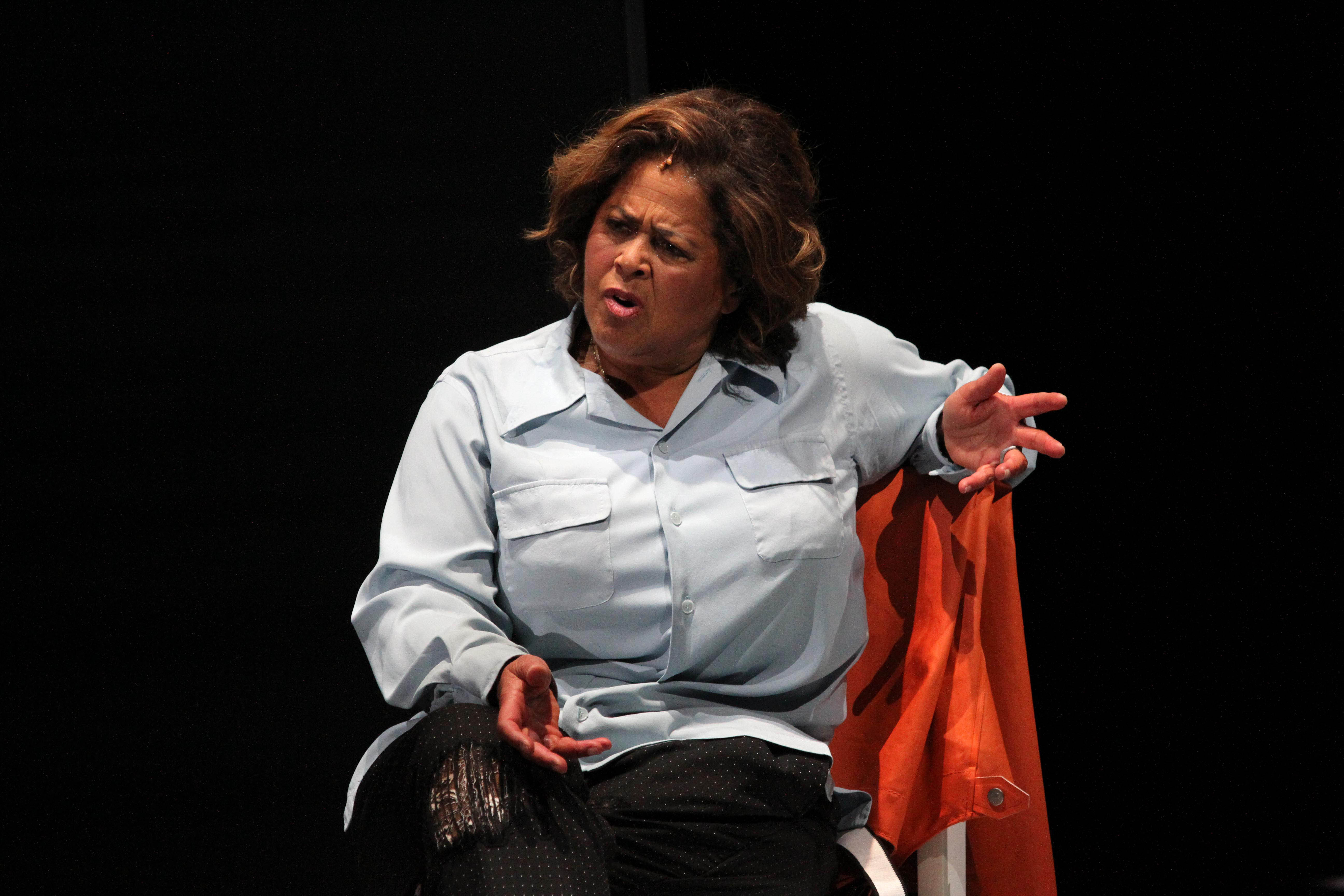 Anna Deavere Smith in her new work,  Notes From the Field,  at the Second Stage Theater in New York, Oct. 14, 2016.