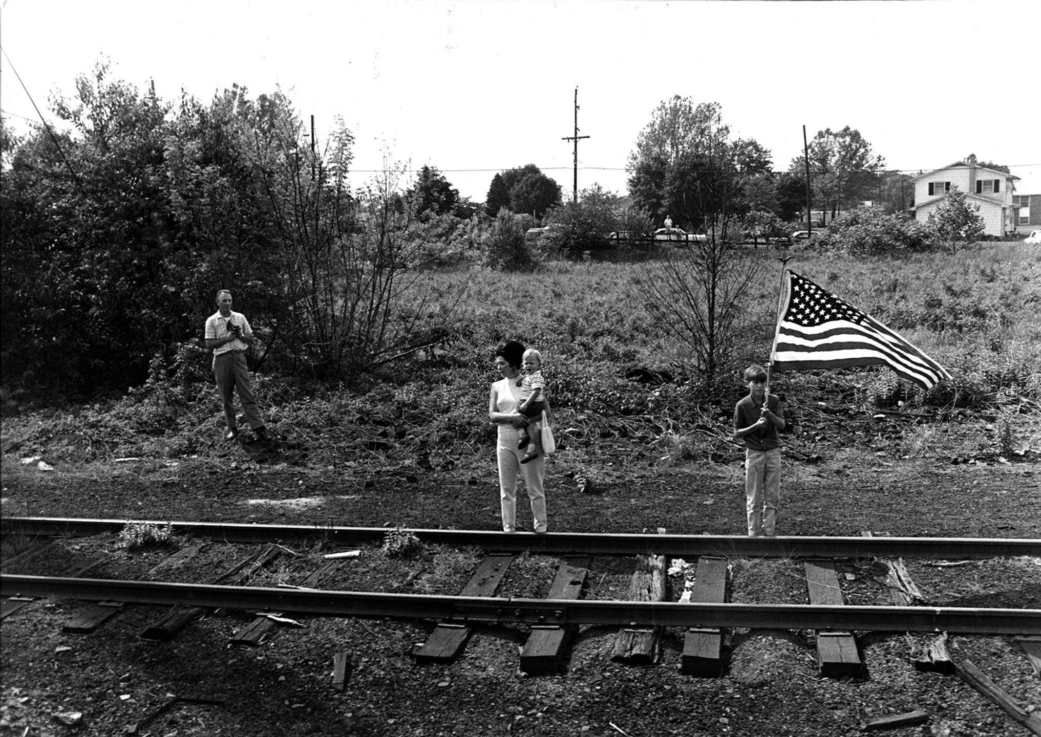 Senator Robert Kennedy's Funeral Train to Arlington, 1968.