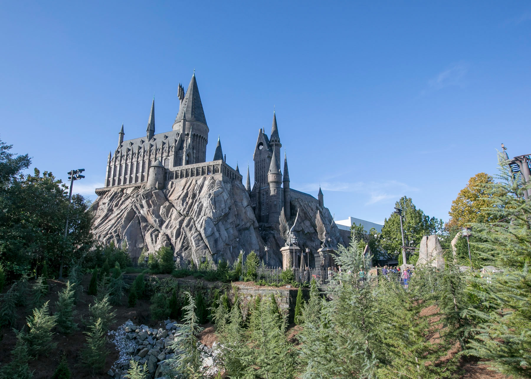 General view of Hogwarts Castle at Wizarding World of Harry Potter Diagon Alley at Universal Orlando on October 24, 2016 in Orlando, Florida.