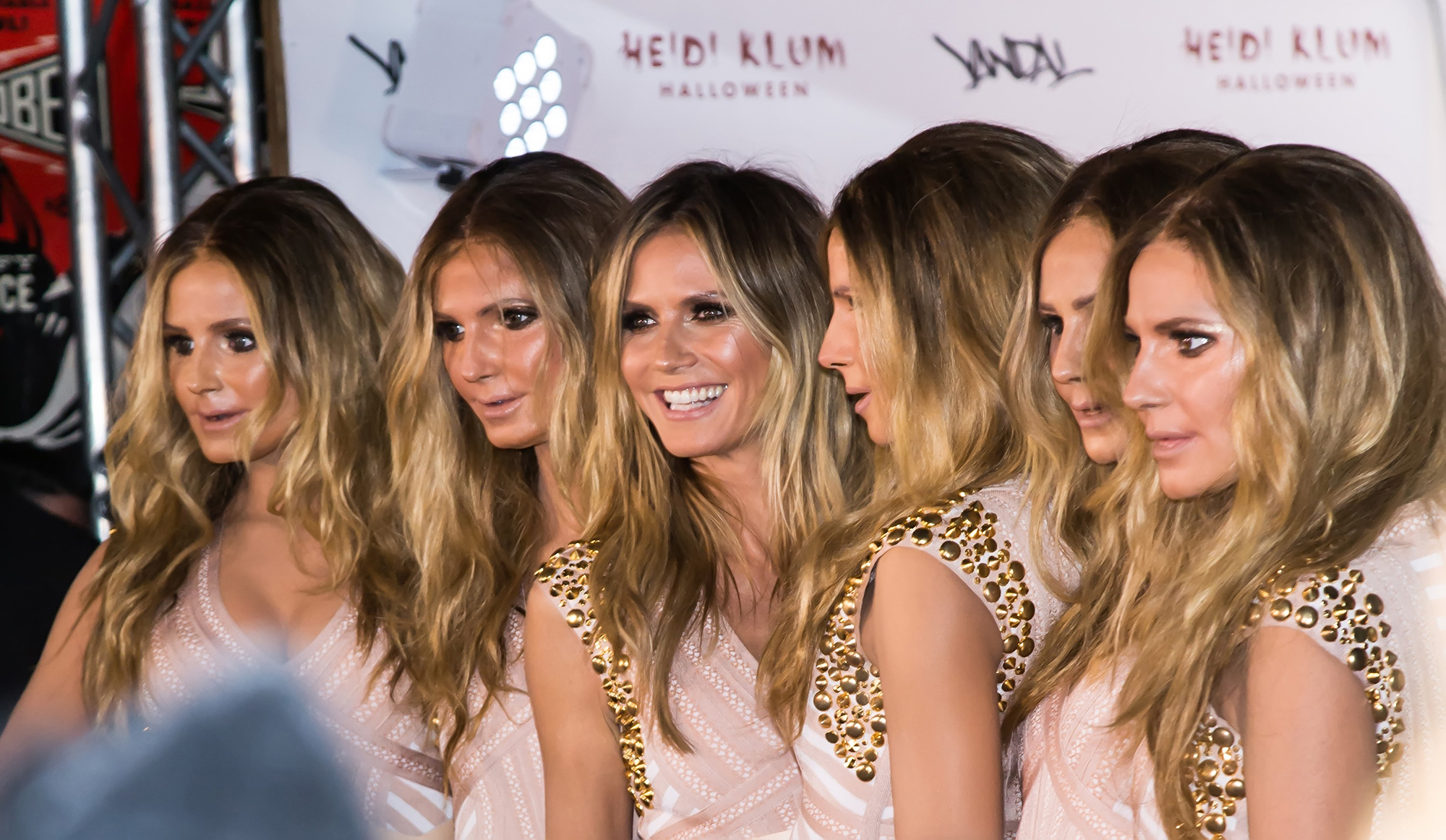 Heidi Klum (3rd L) is seen arriving at Heidi Klum's 17th Annual Halloween Party at Vandal on October 31, 2016 in New York City.  (Photo by Gilbert Carrasquillo/FilmMagic)