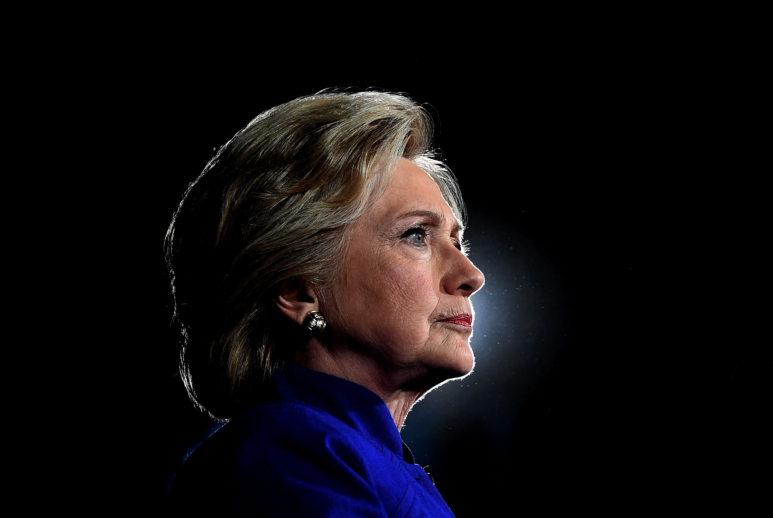 Hillary Clinton looks on during a campaign rally in Tempe, Arizona, on Nov. 2, 2016.