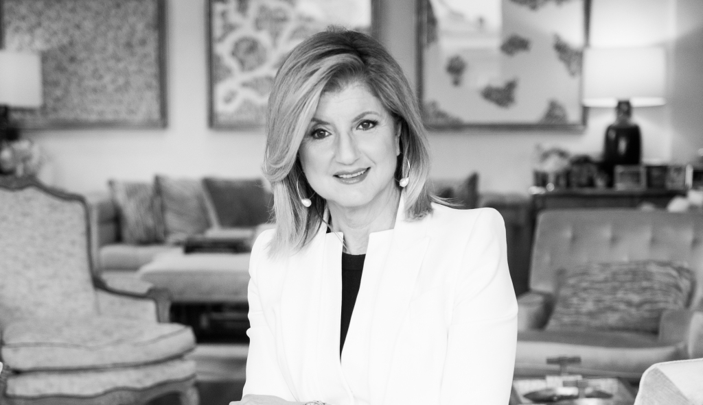 arianna huffington's thrive global launches today Arianna Huffington's THRIVE Global Launches Today huffington bw