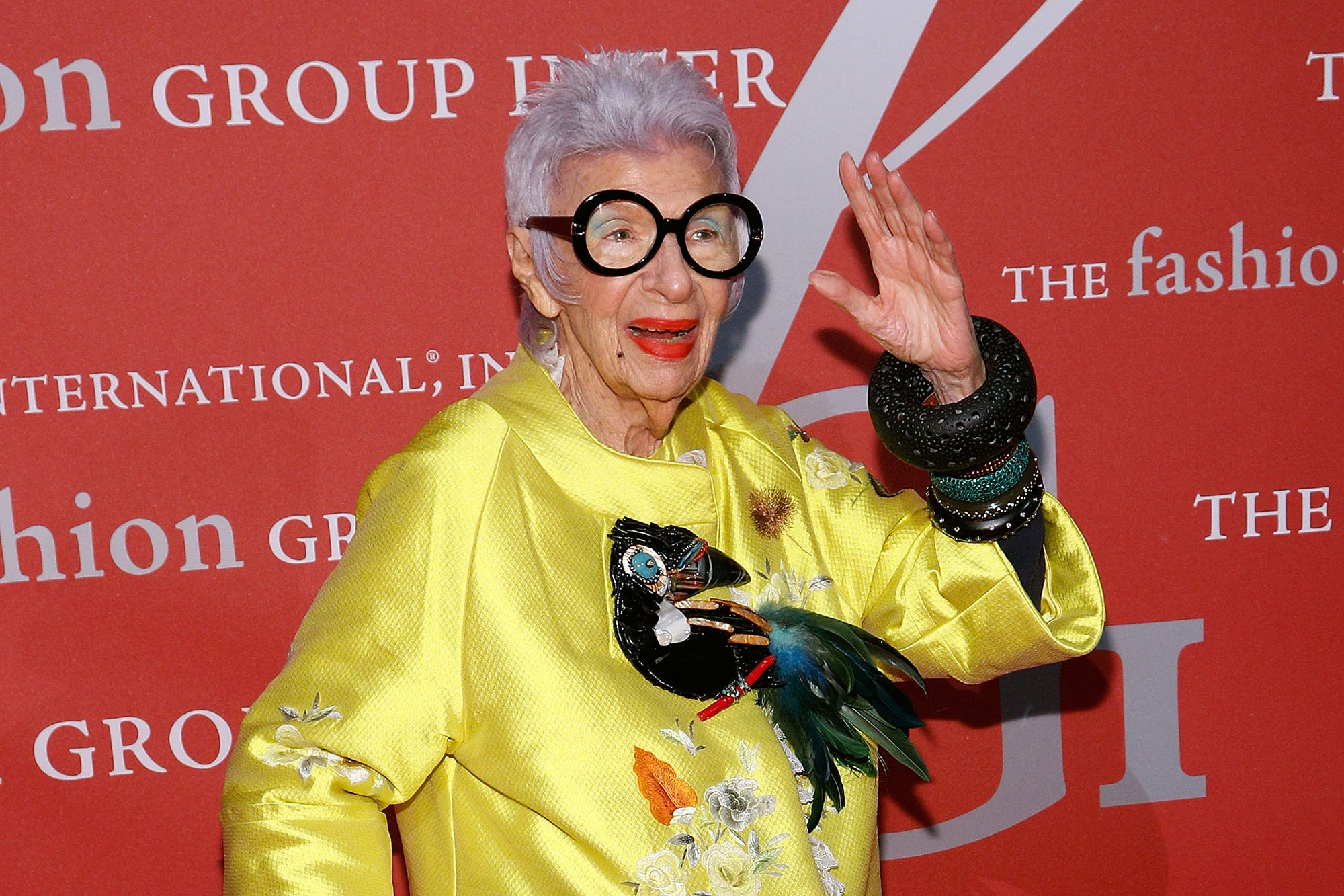 Iris Apfel attends Fashion Group International's 2016 Night of Stars at Cipriani Wall Street on October 27, 2016 in New York City.  (Photo by Taylor Hill/FilmMagic)