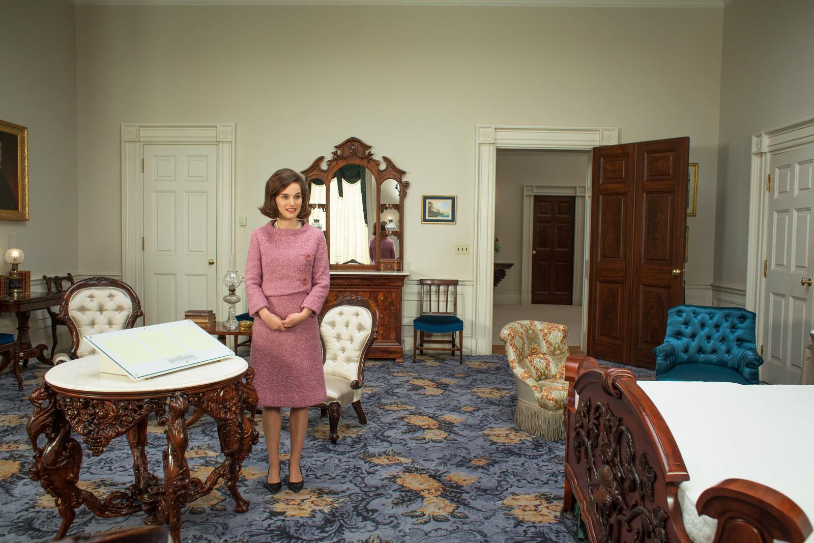 Natalie Portman as Jackie Kennedy in Jackie.