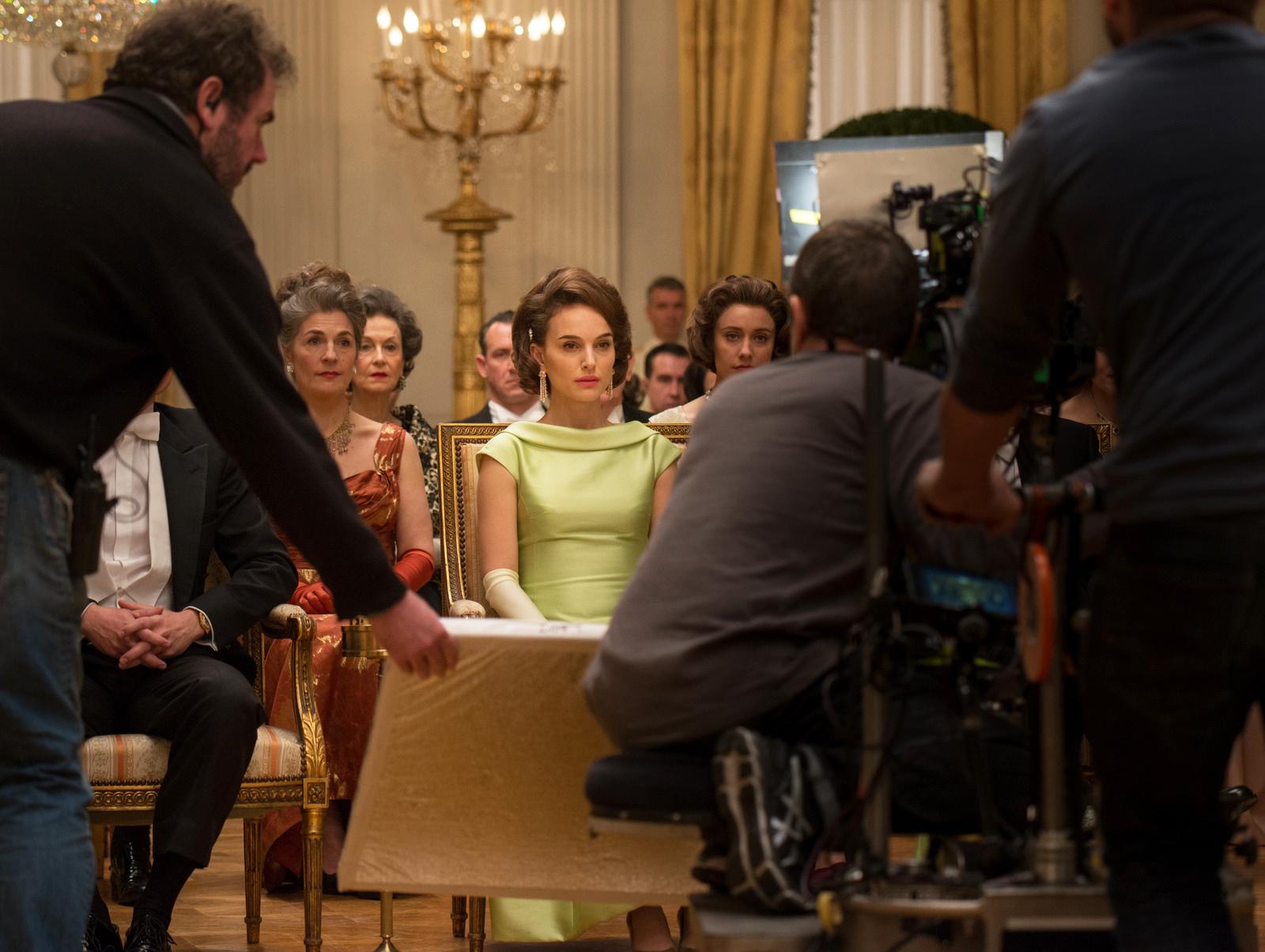 Natalie Portman on the set of Jackie.