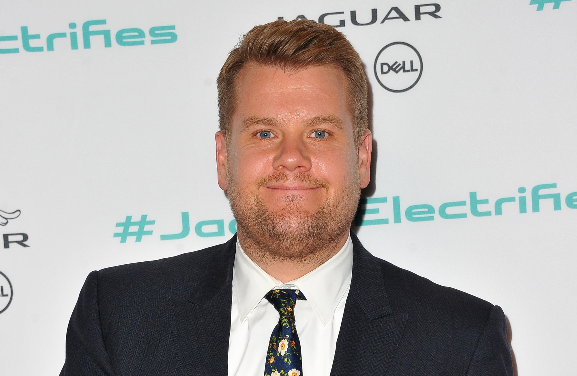 TV personality James Corden attends the Next Era Jaguar Vehicle Unveiling Event at Milk Studios on November 14, 2016 in Los Angeles, California.  (Photo by Allen Berezovsky/WireImage)