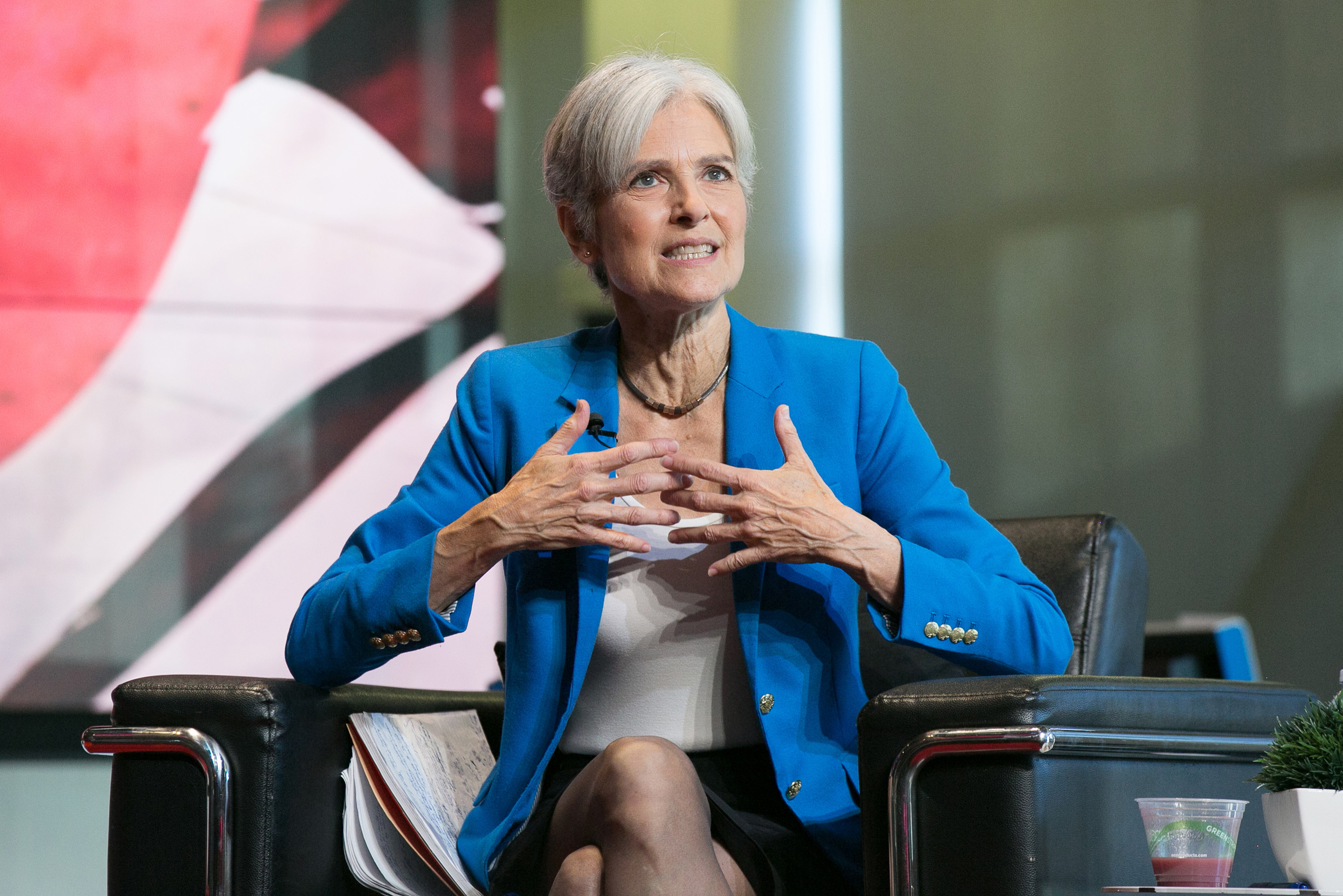 Jill Stein attends the Young Turks Town-Hall With Green Party Presidential Candidate Jill Stein at YouTube Space LA in Los Angeles on Oct. 21, 2016.