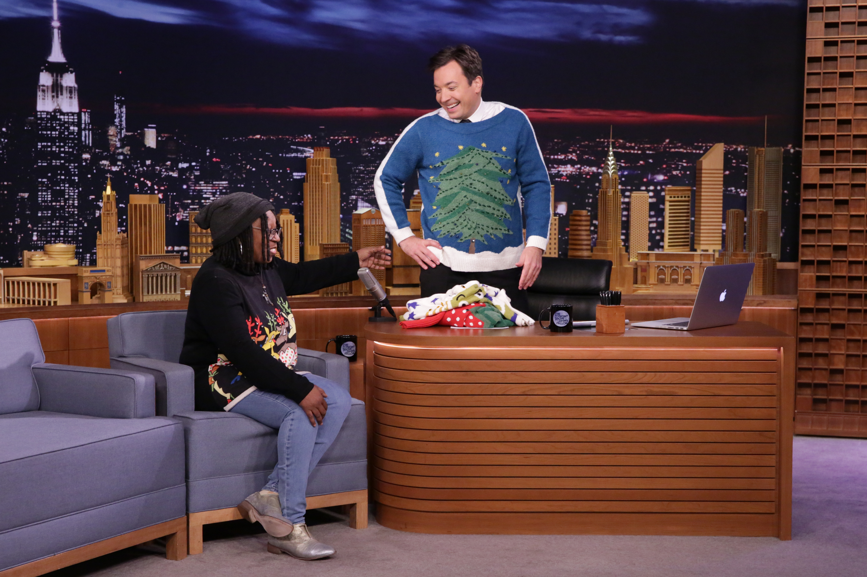 Whoopi Goldberg during an interview with host Jimmy Fallon on November 1, 2016.