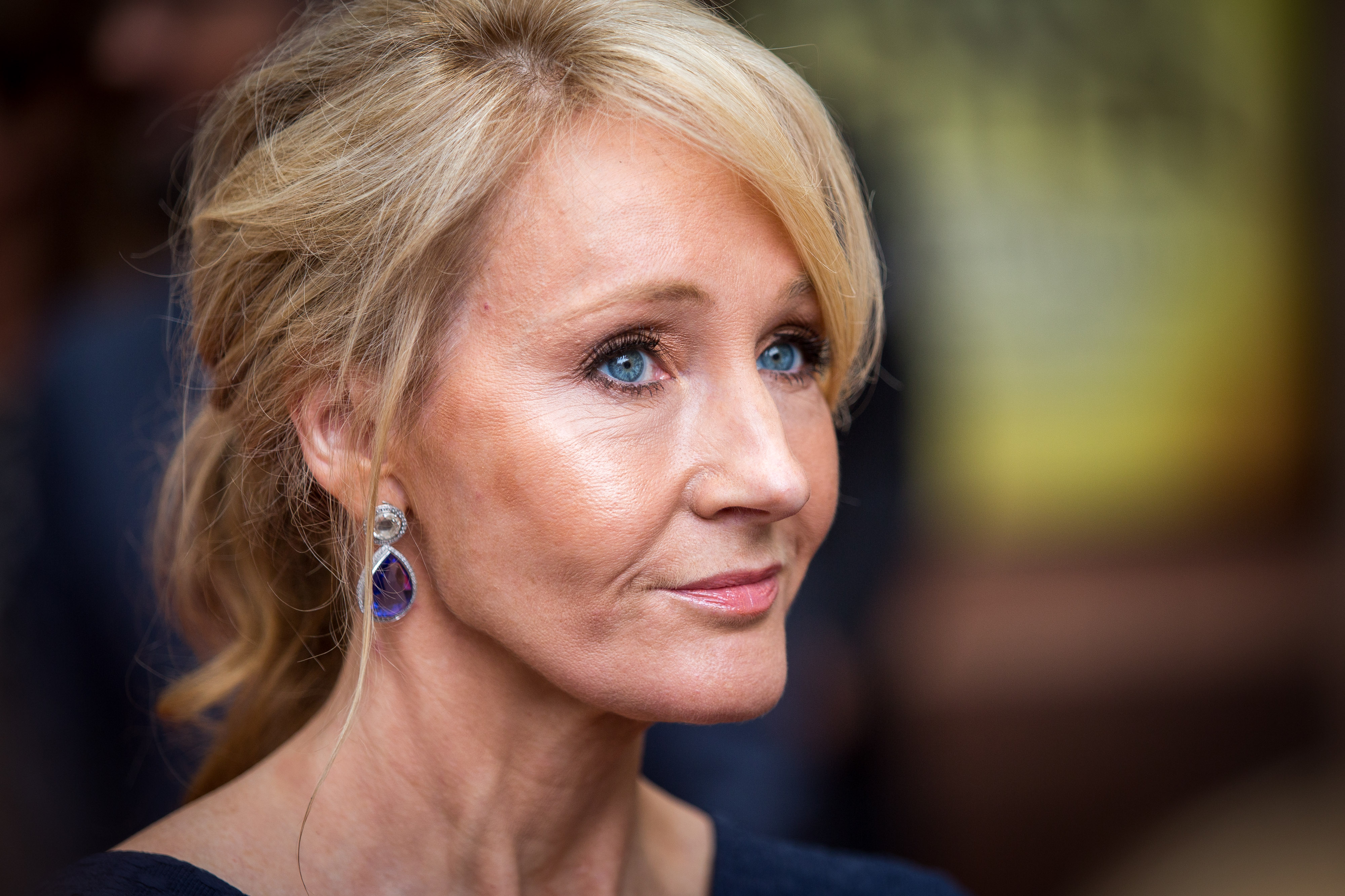 J. K. Rowling attends the press preview of  Harry Potter & The Cursed Child  at Palace Theatre on July 30, 2016 in London, England.