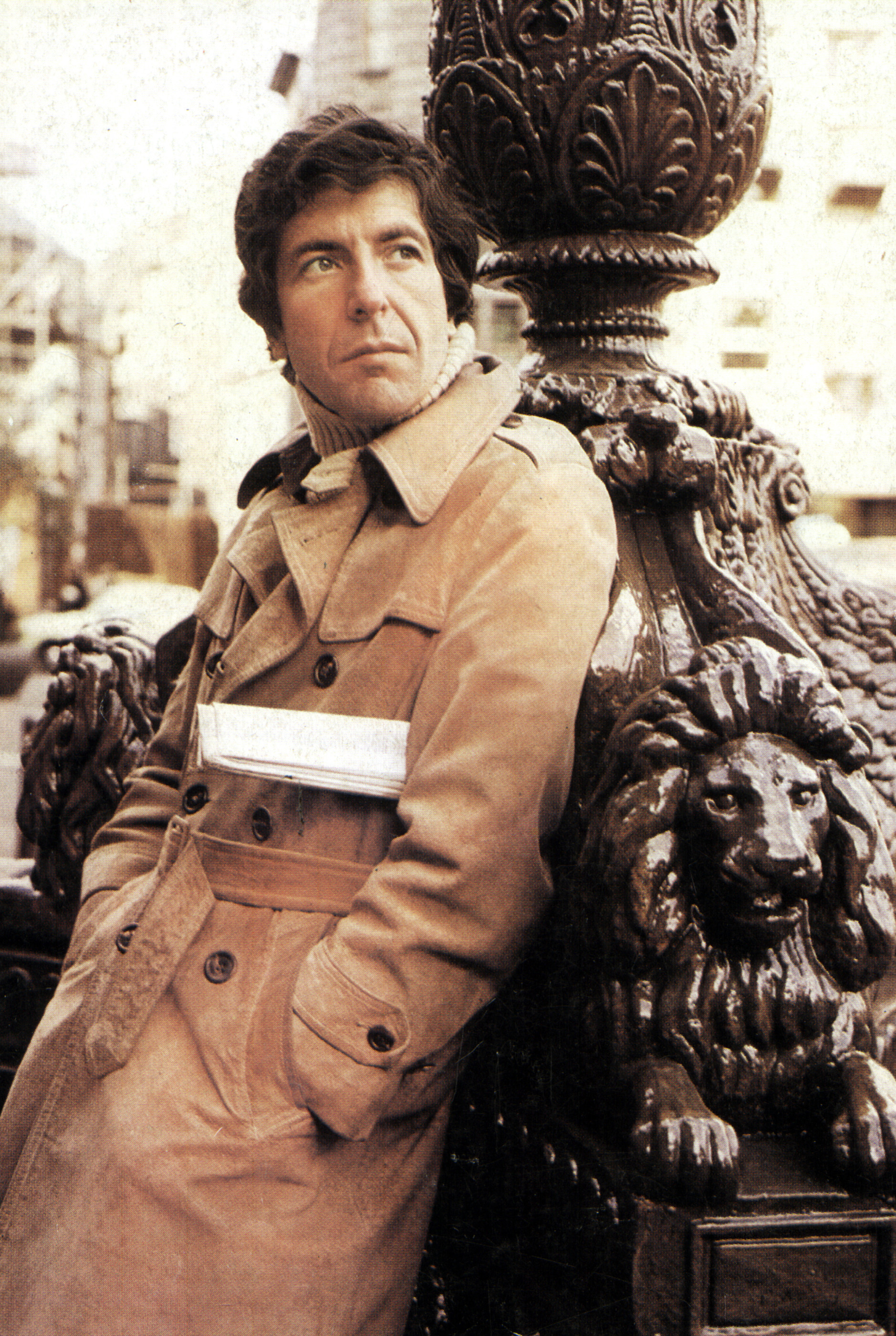 Leonard Cohen in April 1972 in Amsterdam, Netherlands.