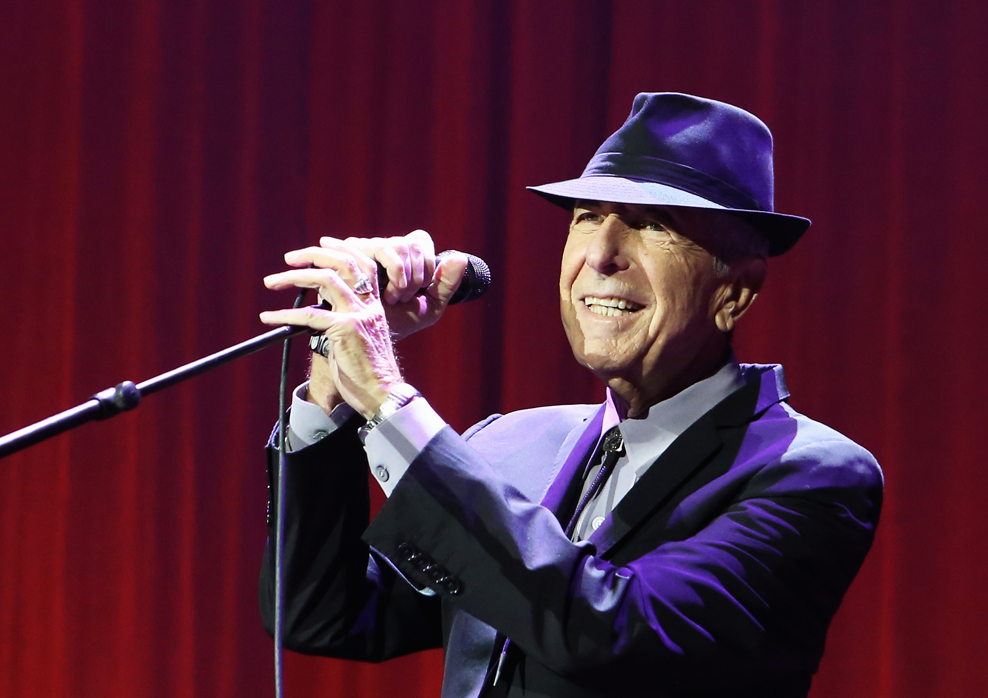 Leonard Cohen at the O2 Arena on Sept. 15, 2013 in London.