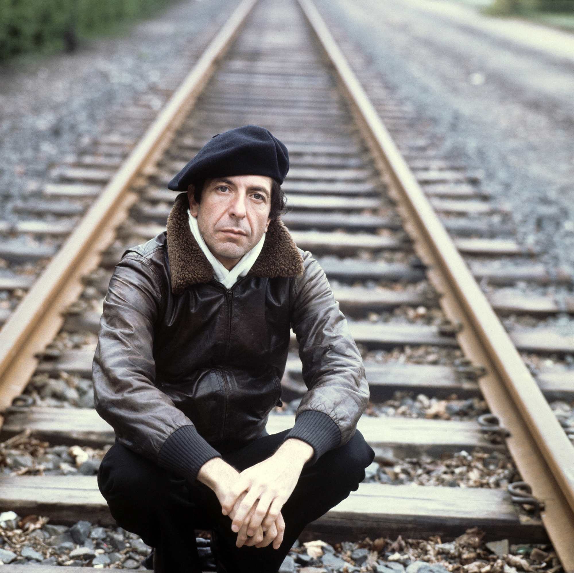 Leonard Cohen on April 25, 1976 in Frankfurt, Germany.
