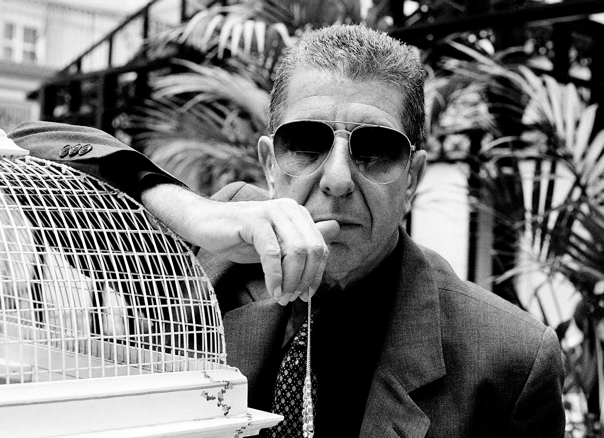 Leonard Cohen in London in 2001.
