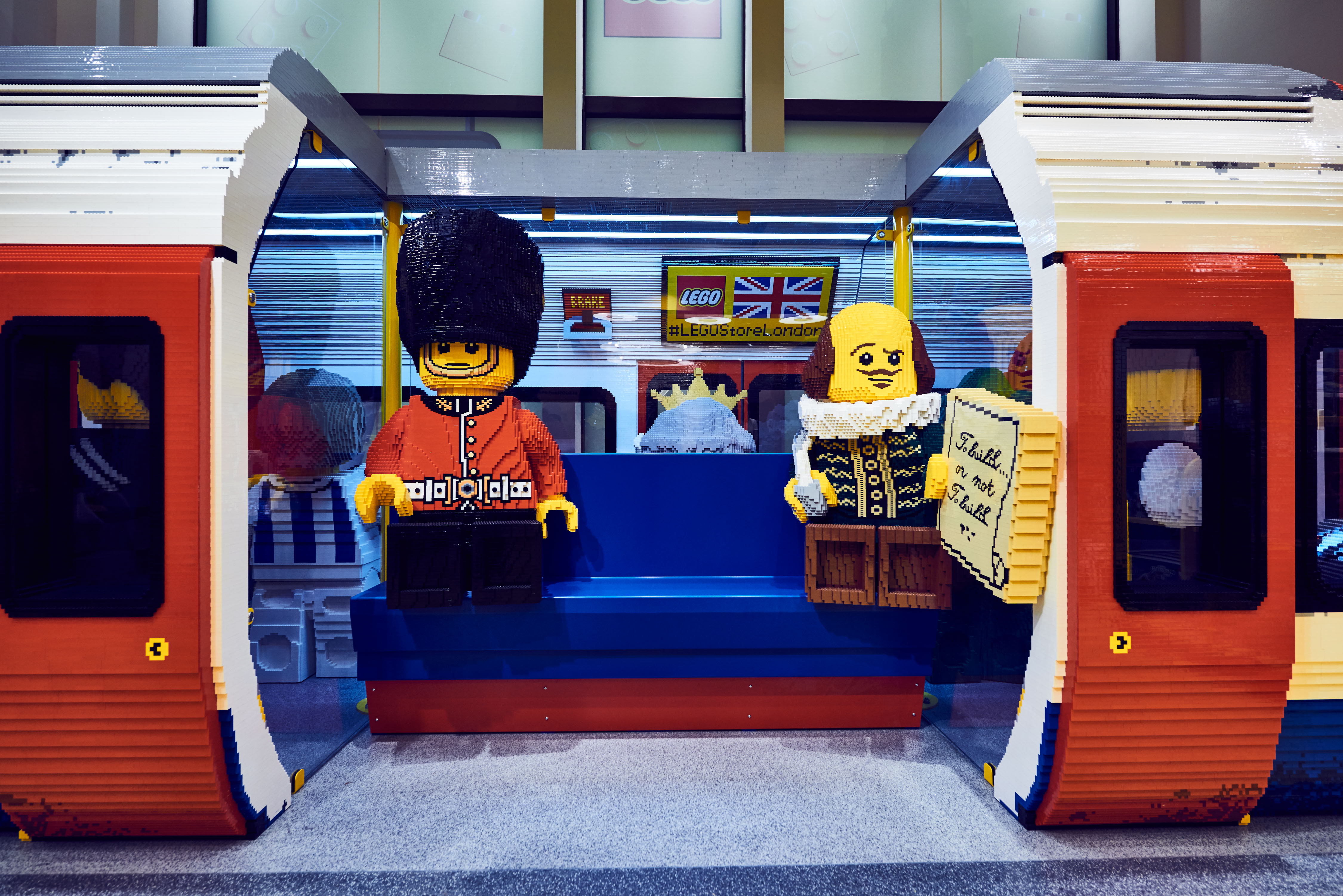 Through a partnership with Transport for London, Lego has created a life-sized London Underground train car. The train car is made up of 637,903 bricks and took 3,399 hours to build.