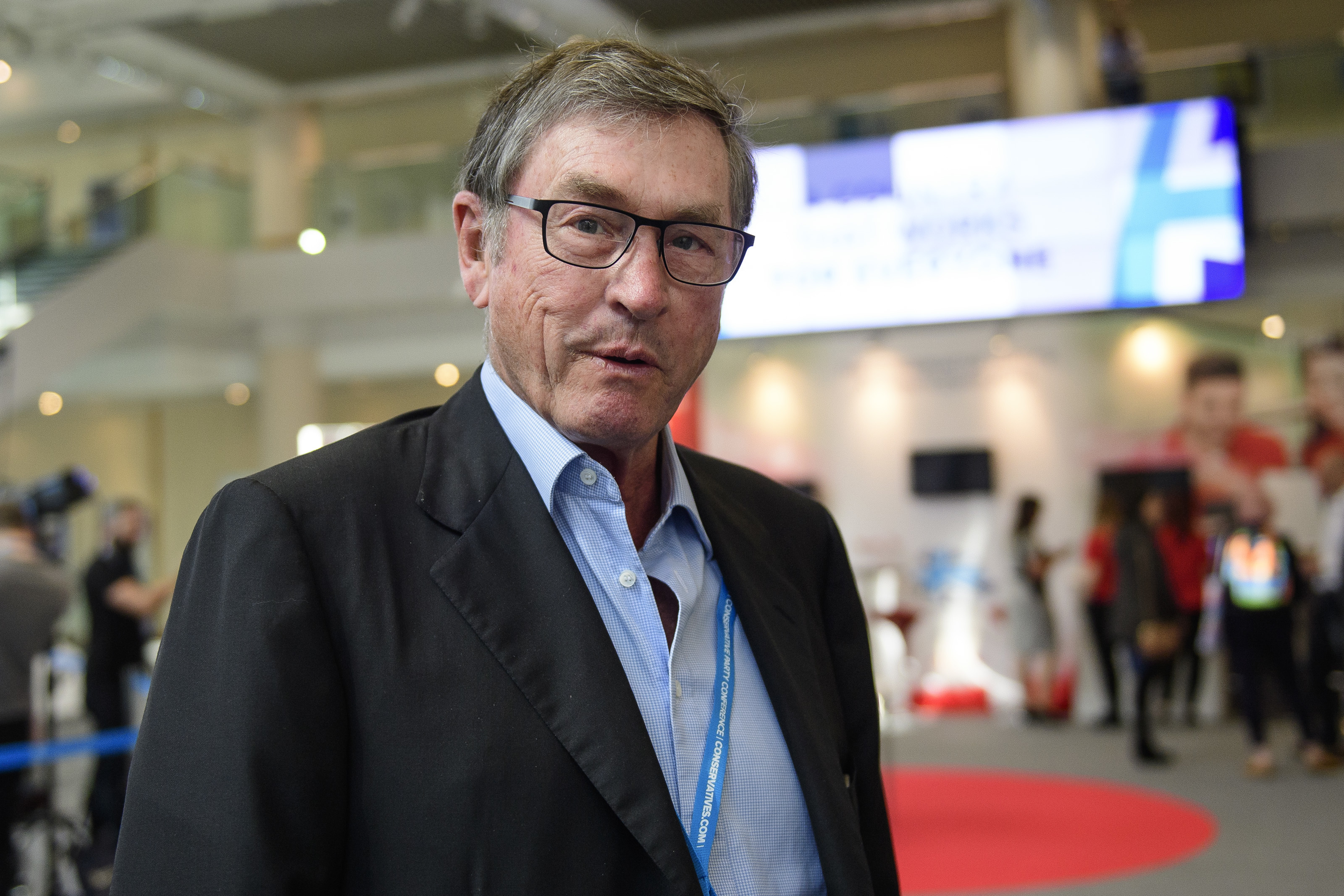 Lord Michael Ashcroft at the ICC in Birmingham, on Oct. 2, 2016.