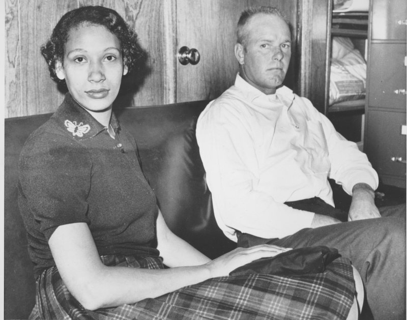 Richard and Mildred Loving on this Jan. 26, 1965, prior to filing a suit at Federal Court in Richmond, Va.