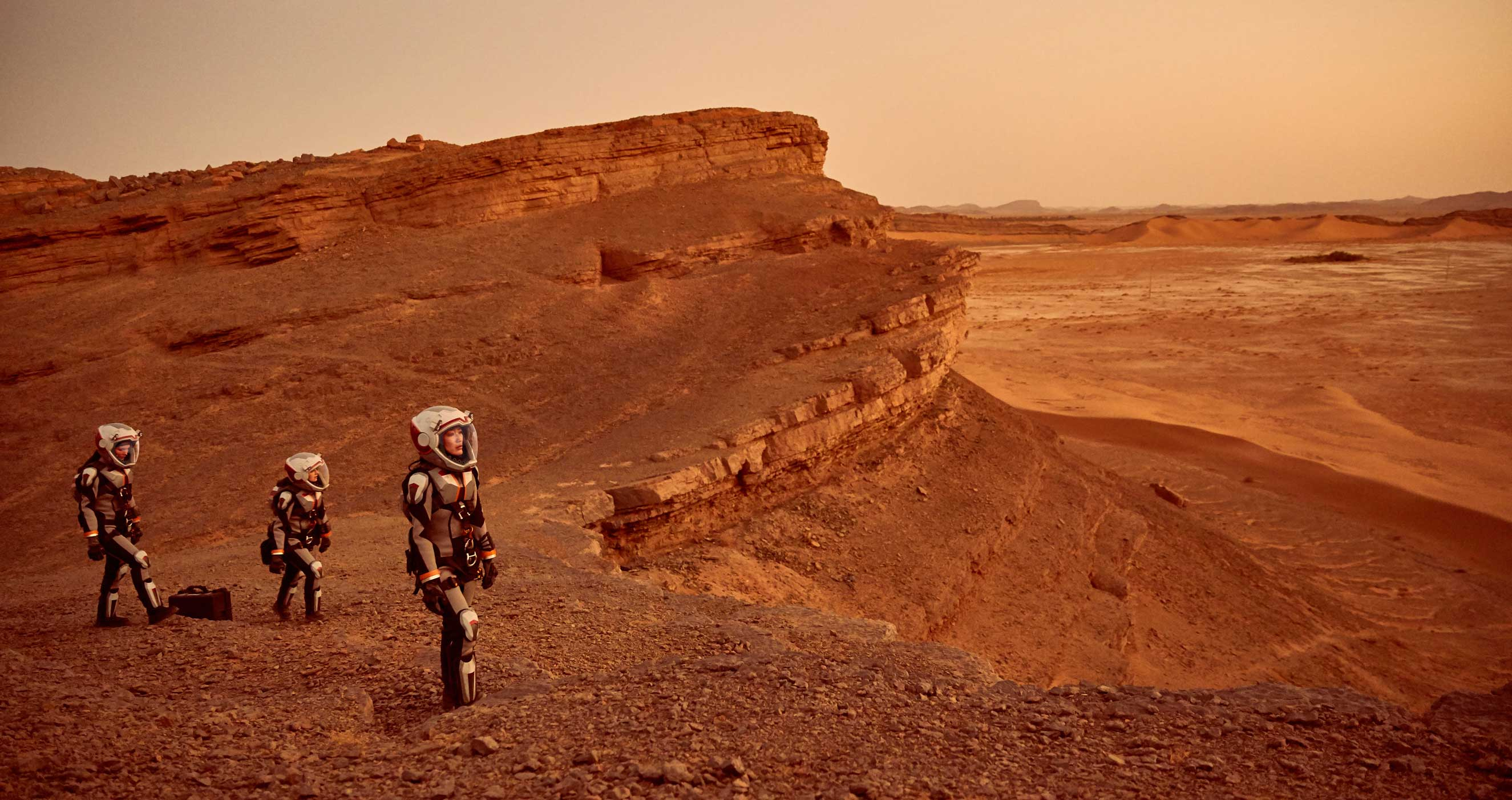 Fictional astronauts land on the Red Planet with technology firmly grounded in current research