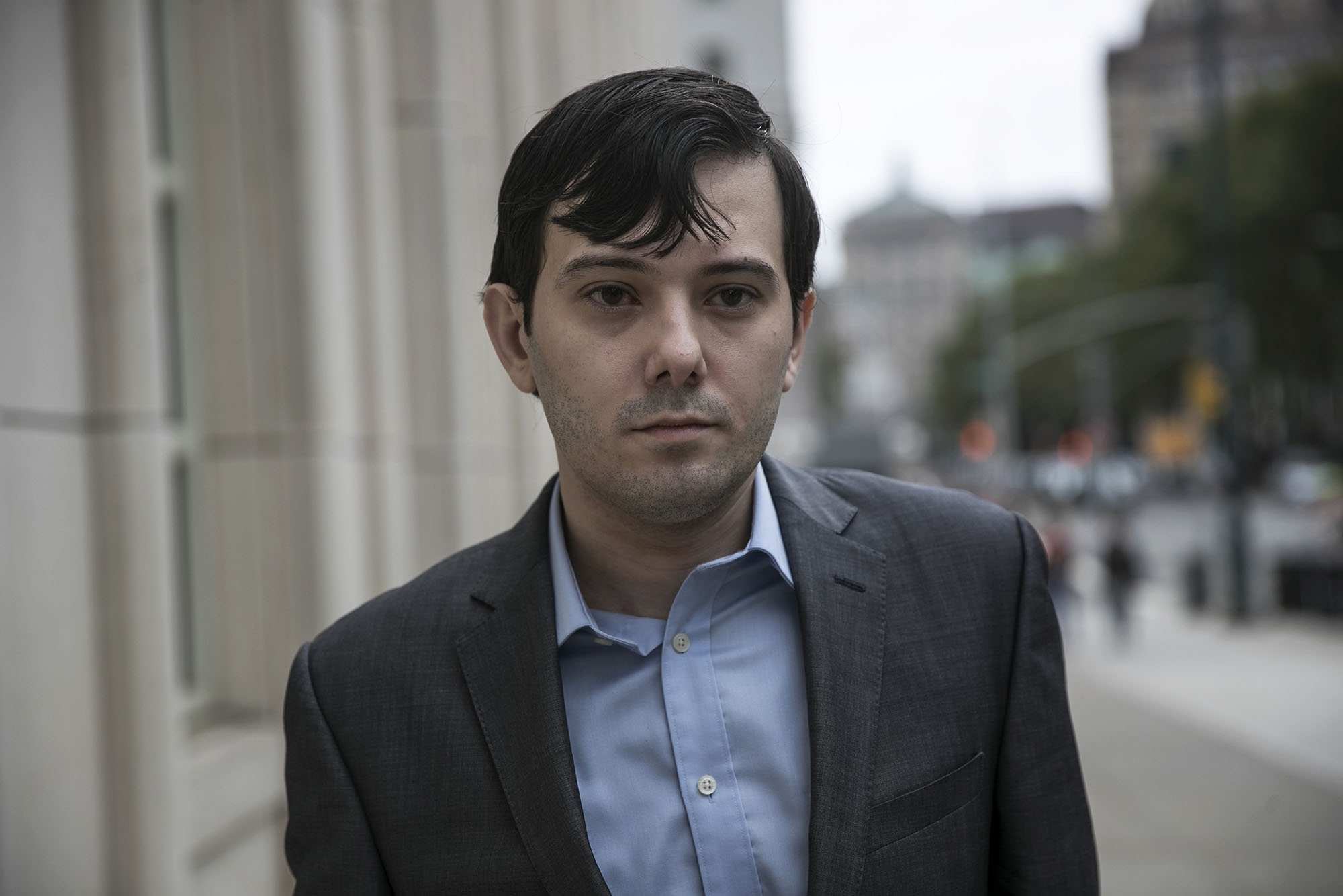 Martin Shkreli, former chief executive officer for Turing Pharmaceuticals AG, arrives at Federal Court in Brooklyn, New York, U.S, on Thursday, July 14, 2016. (Photographer: Victor J. Blue/Bloomberg via Getty Images)