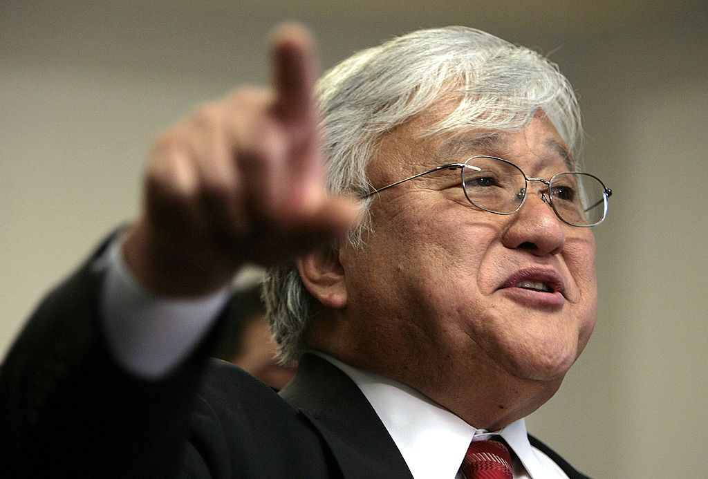 Rep. Mike Honda speaks during a press conference on Capitol Hill on March 14, 2006 in Washington, DC.