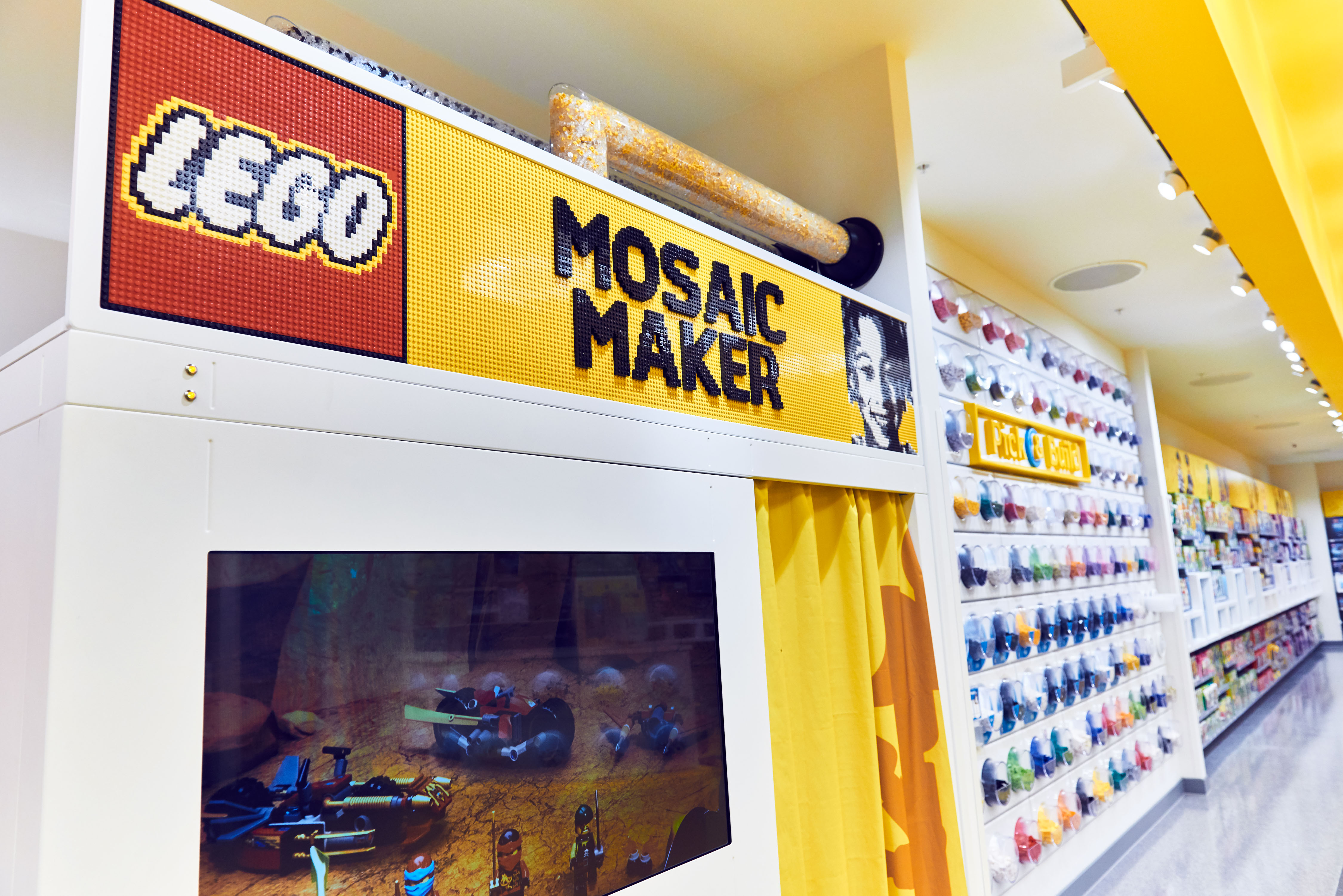 The  Mosaic Maker  offers Legos fans of all ages the opportunity to purchase their very own, one of a kind, personalized Legos mosaic portrait.