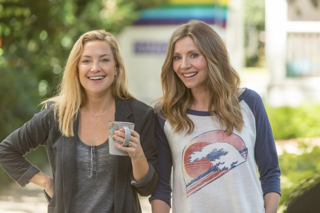 Kate Hudson, left, and Sarah Chalke, right, in <i>Mother's Day</i>.