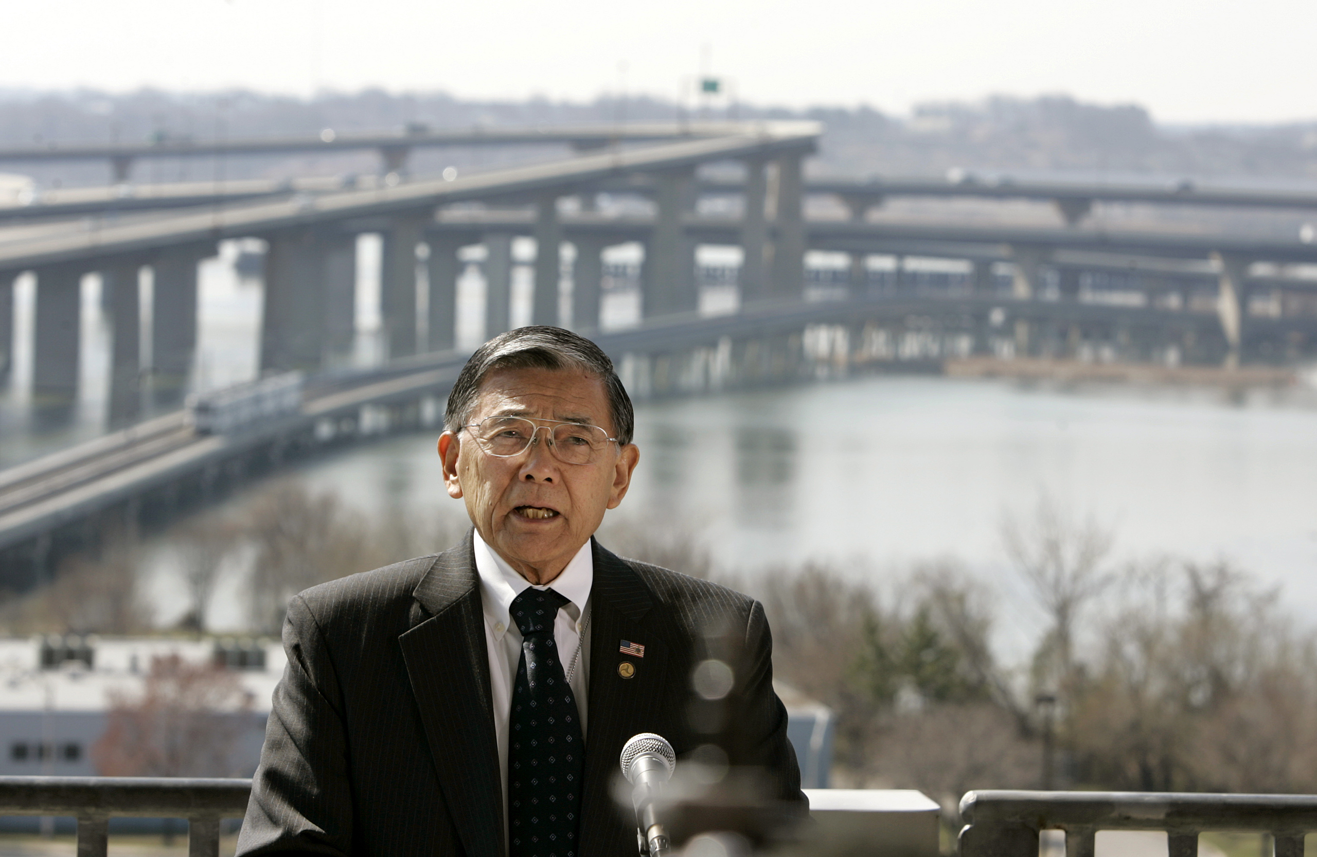 Norman Y. Mineta, Transportation Secretary under the George W. Bush Administration, delivering a speech in Baltimore on March 29, 2006.