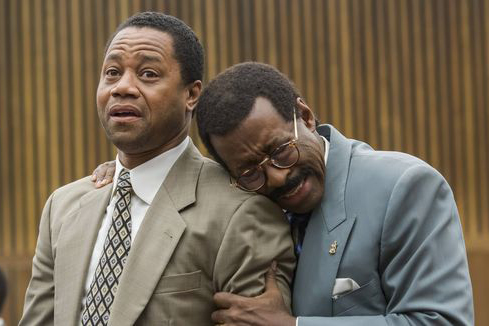 "Cuba Gooding Jr. and Courtney B. Vance in ""The People v. O.J. Simpson."""