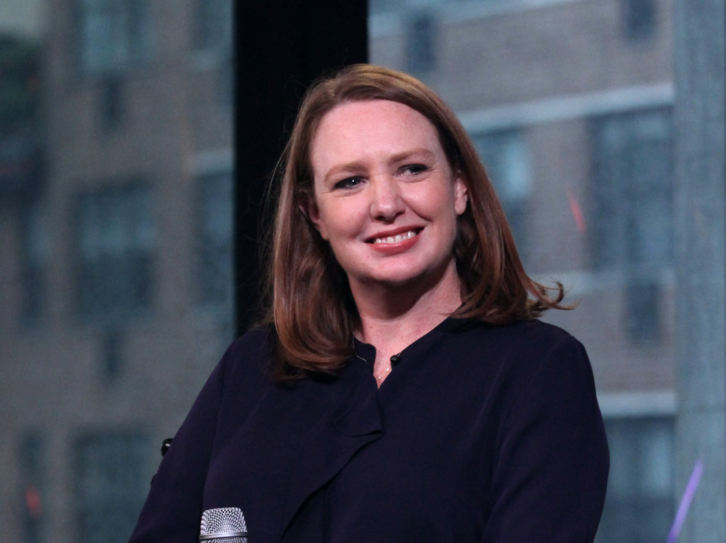Paula Hawkins appears to promote  The Girl On The Train  during the AOL BUILD Series at AOL HQ on October 4, 2016 in New York City.