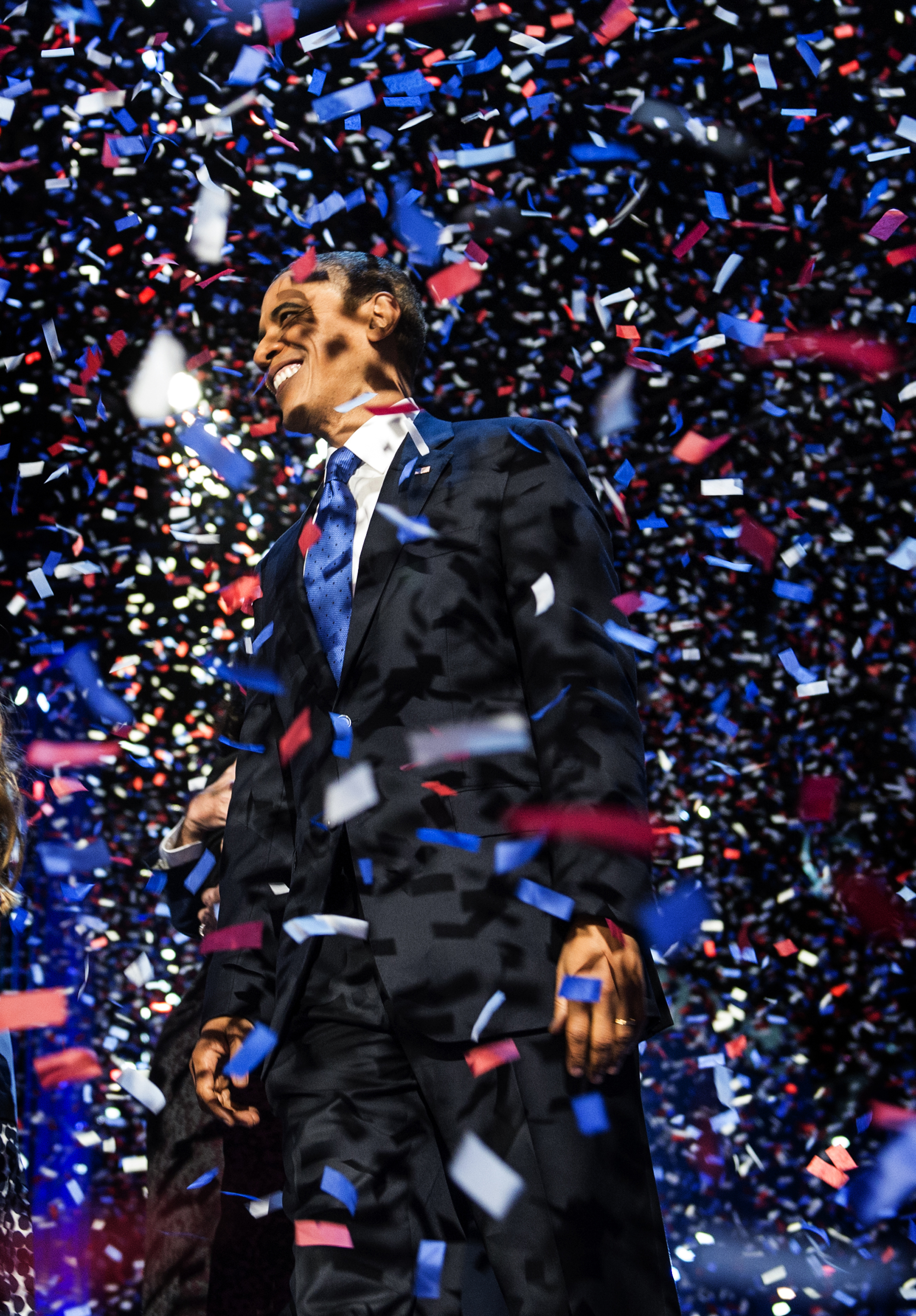 President Barack Obama is re-elected to office in Chicago on Nov. 6, 2012.