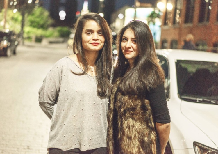 Sarah Munir, left, and Purvi Thacker