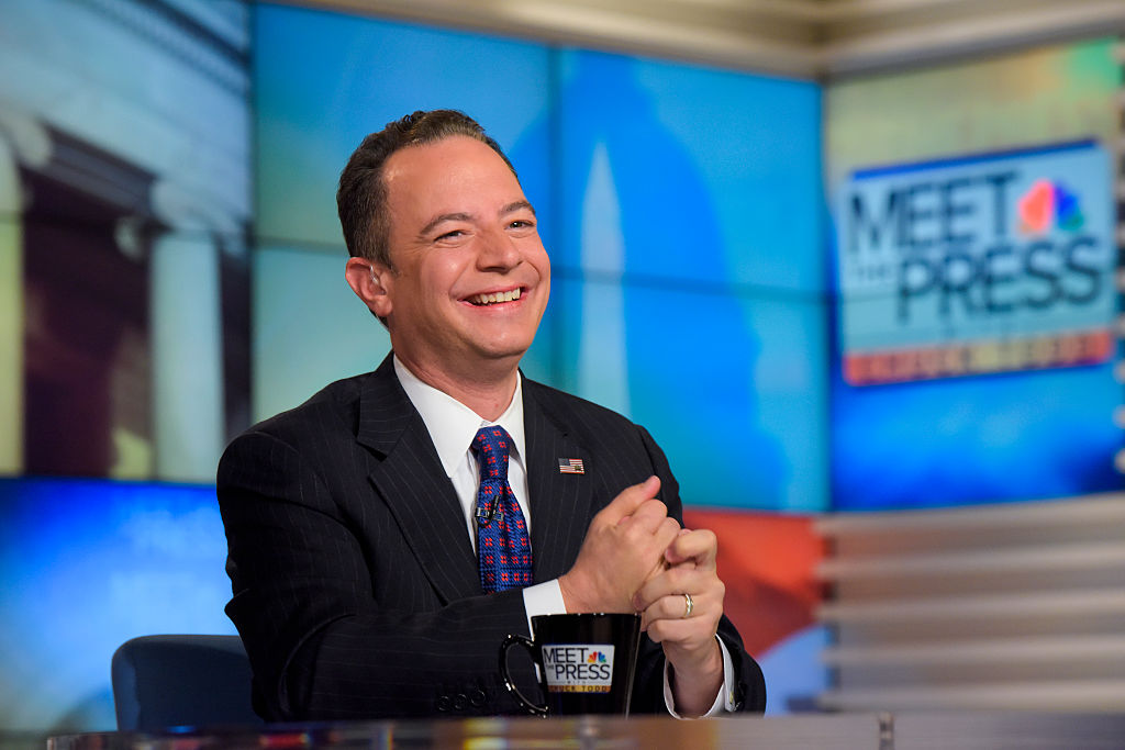 Reince Priebus, Chair, Republican National Committee, appears on  Meet the Press  in Washington, D.C., Sunday August 28, 2016.